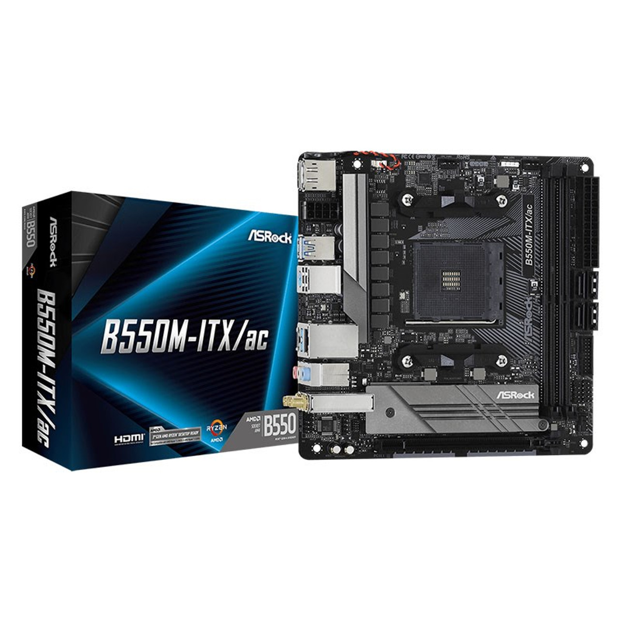Image for ASRock B550M-ITX/ac AM4 Mini-ITX Motherboard CX Computer Superstore