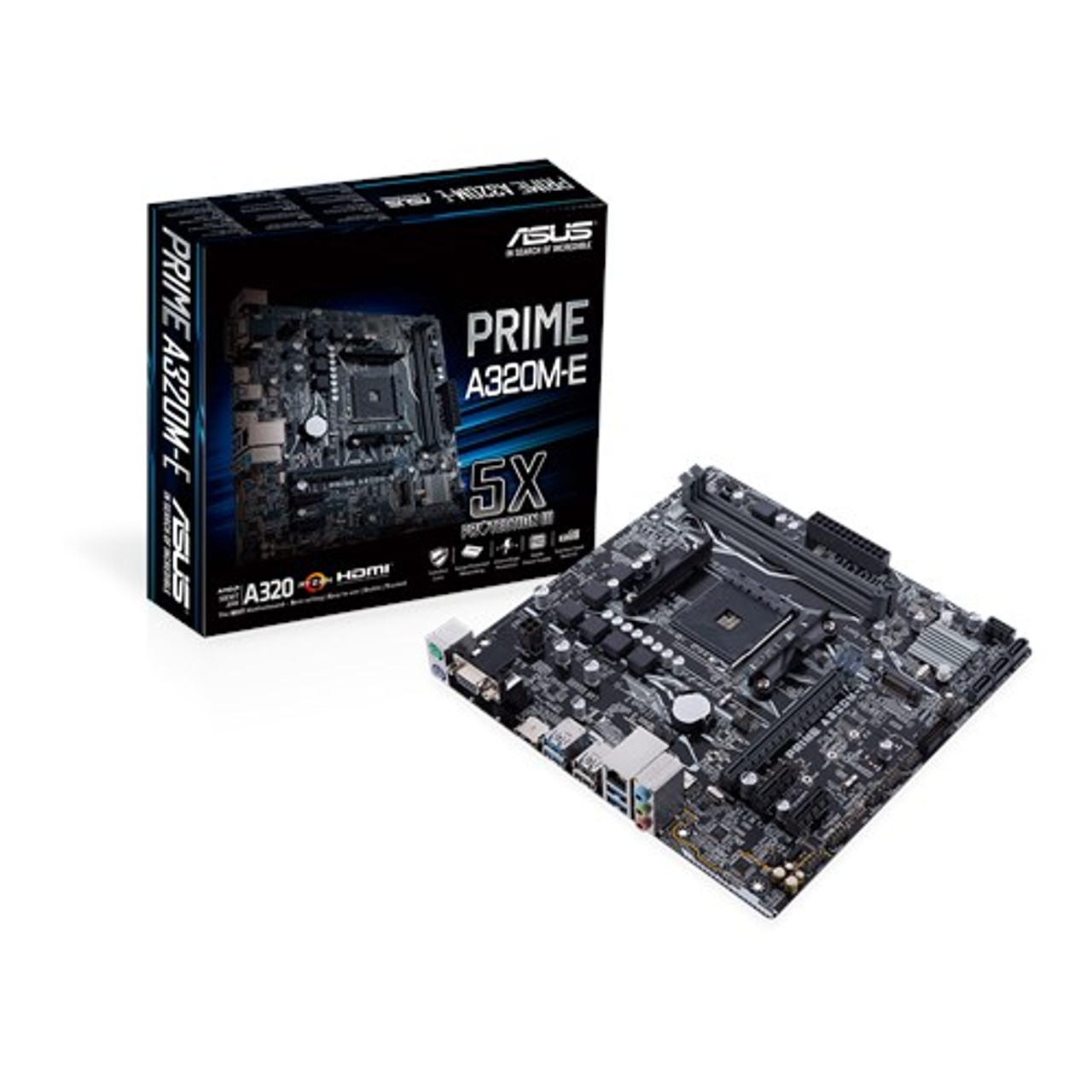 Product image for Asus Prime A320M-E AM4 Micro-ATX Motherboard | CX Computer Superstore