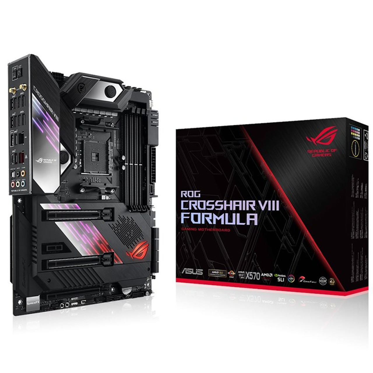 Product image for Asus ROG Crosshair VIII Formula Motherboard | CX Computer Superstore