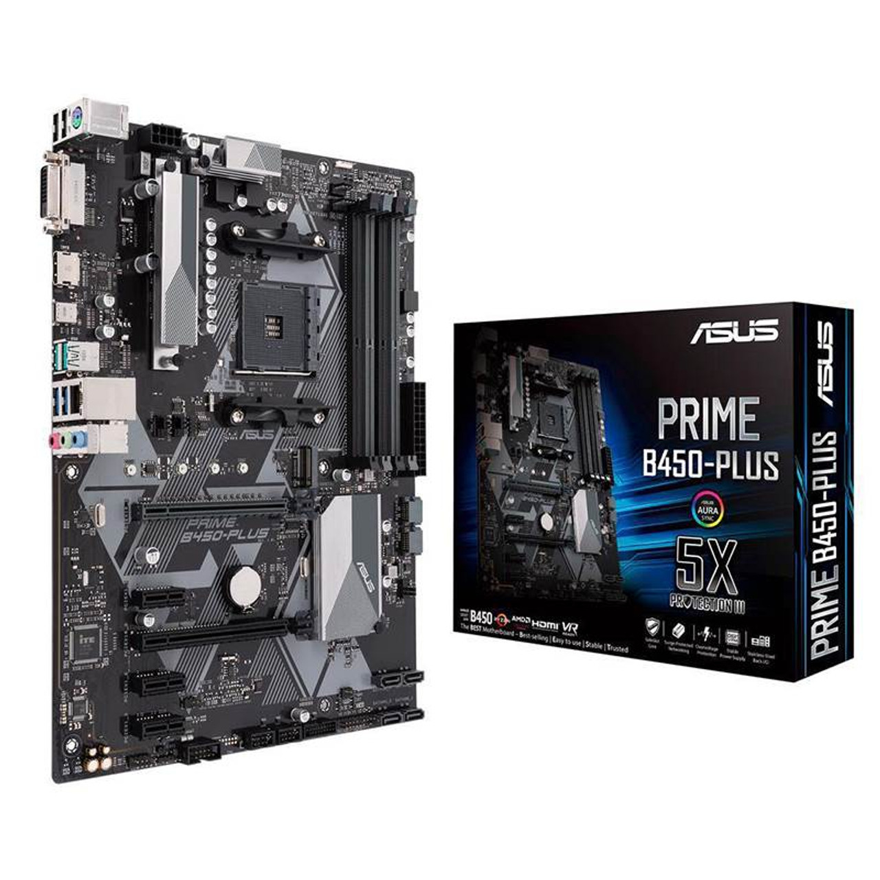 Image for Asus PRIME B450-PLUS AM4 ATX Motherboard CX Computer Superstore
