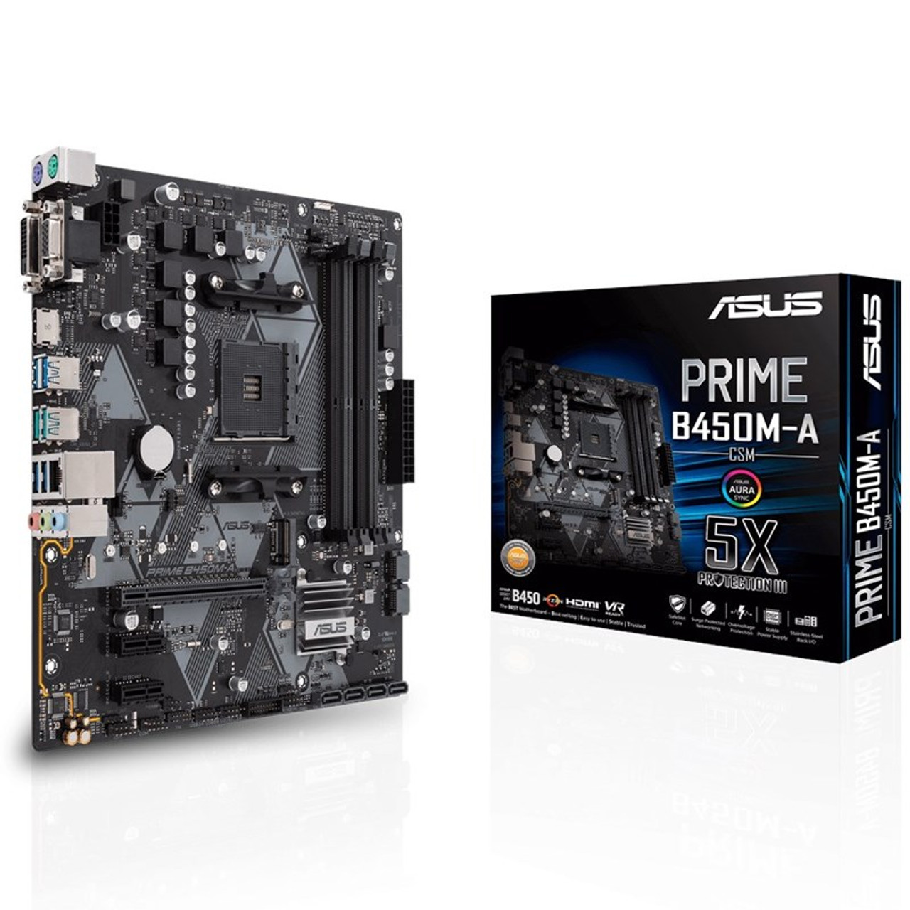 Image for Asus Prime B450M-A/CSM AM4 Micro-ATX Motherboard CX Computer Superstore