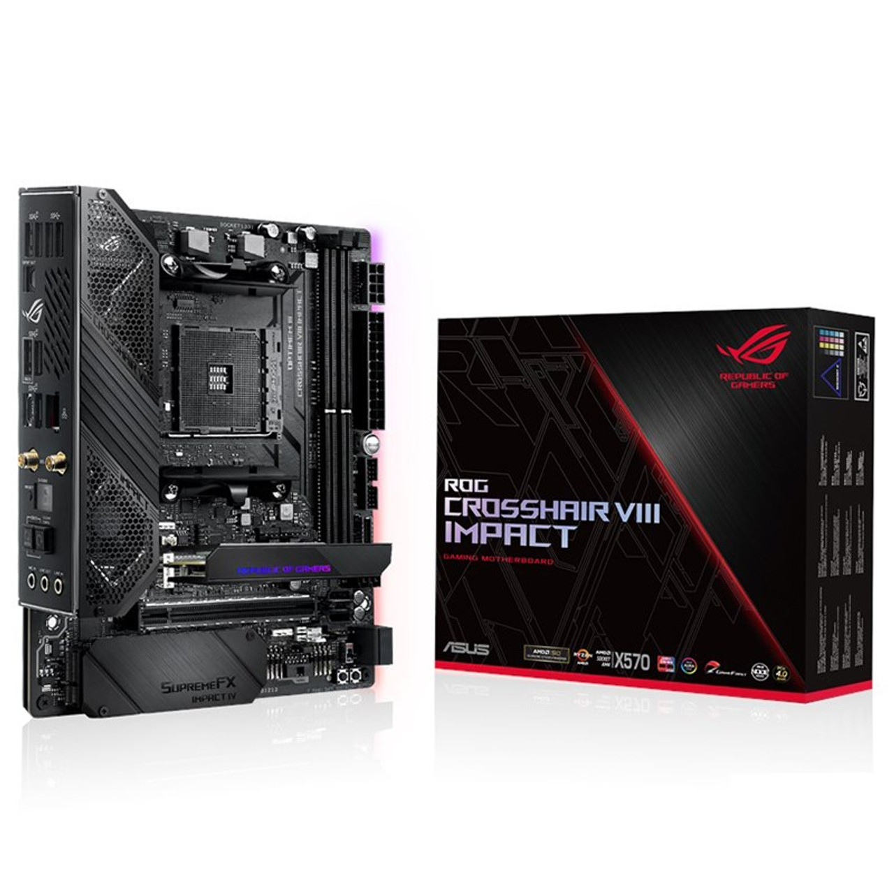 Image for Asus ROG Crosshair VIII Impact X570 Mini-DTX Motherboard CX Computer Superstore