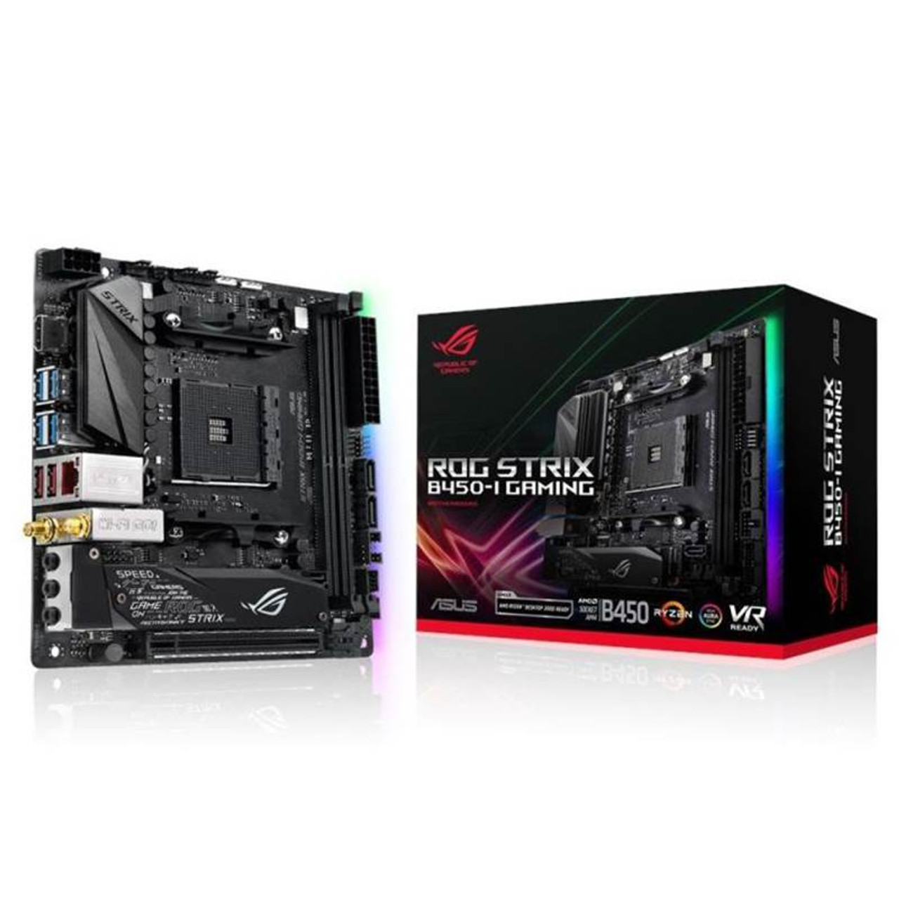 Image for Asus ROG Strix B450-I GAMING AM4 Mini-ITX Motherboard CX Computer Superstore