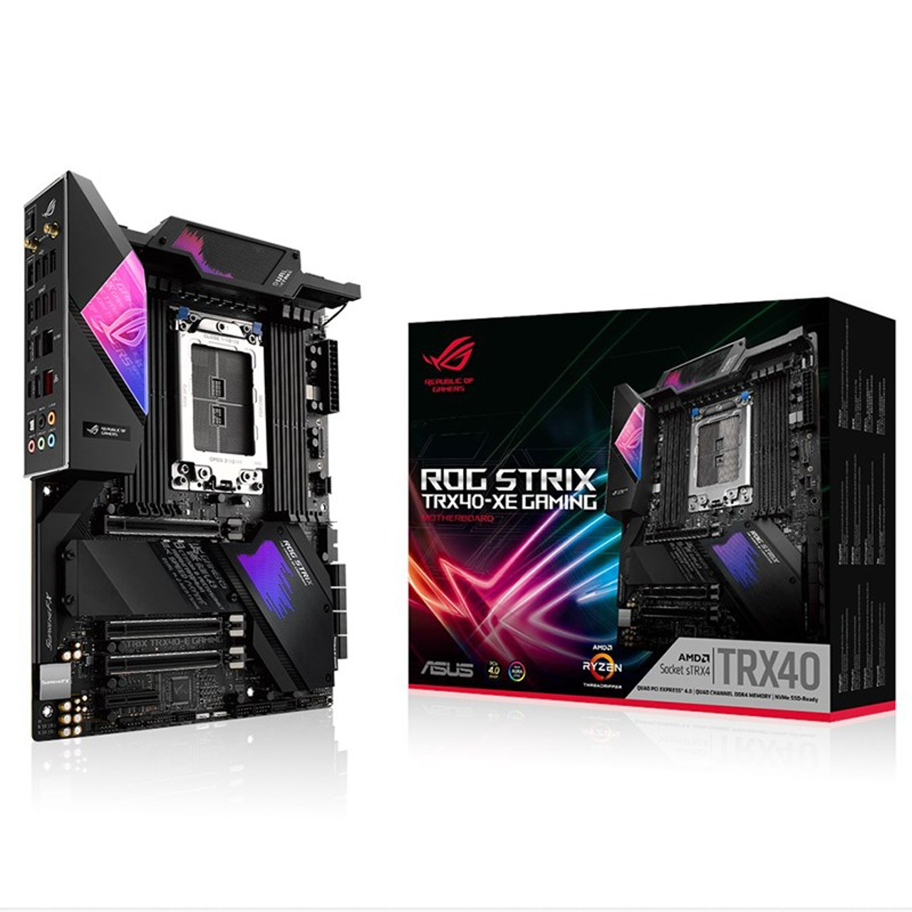 Image for Asus ROG Strix TRX40-XE GAMING sTRX4 ATX Motherboard CX Computer Superstore
