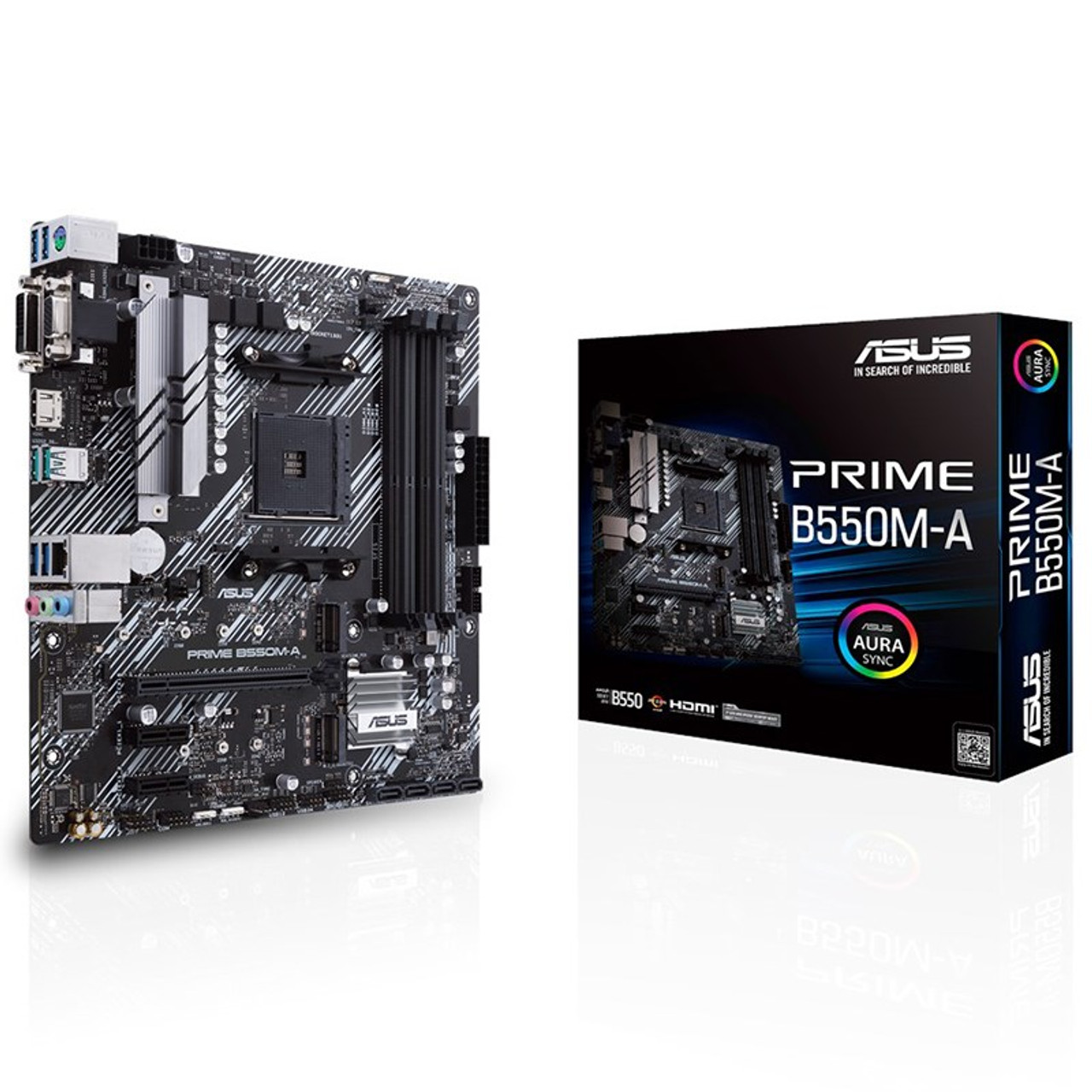 Image for Asus PRIME B550M-A AM4 Micro-ATX Motherboard CX Computer Superstore