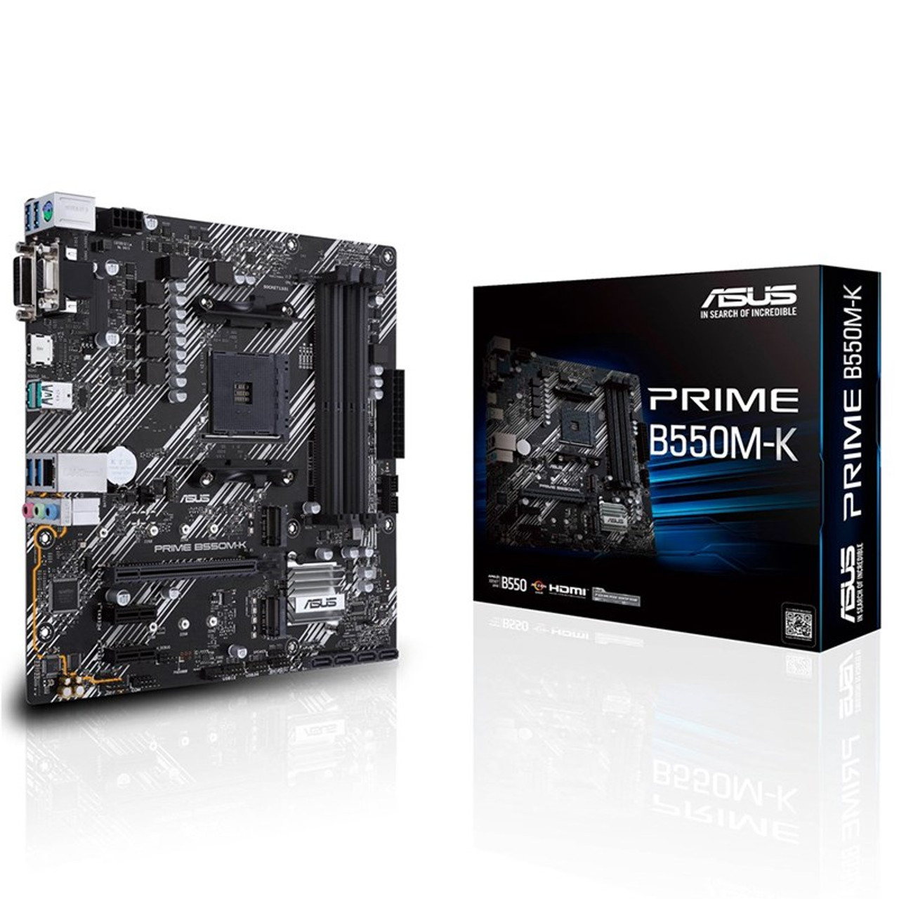 Image for Asus PRIME B550M-K AM4 Micro-ATX Motherboard CX Computer Superstore