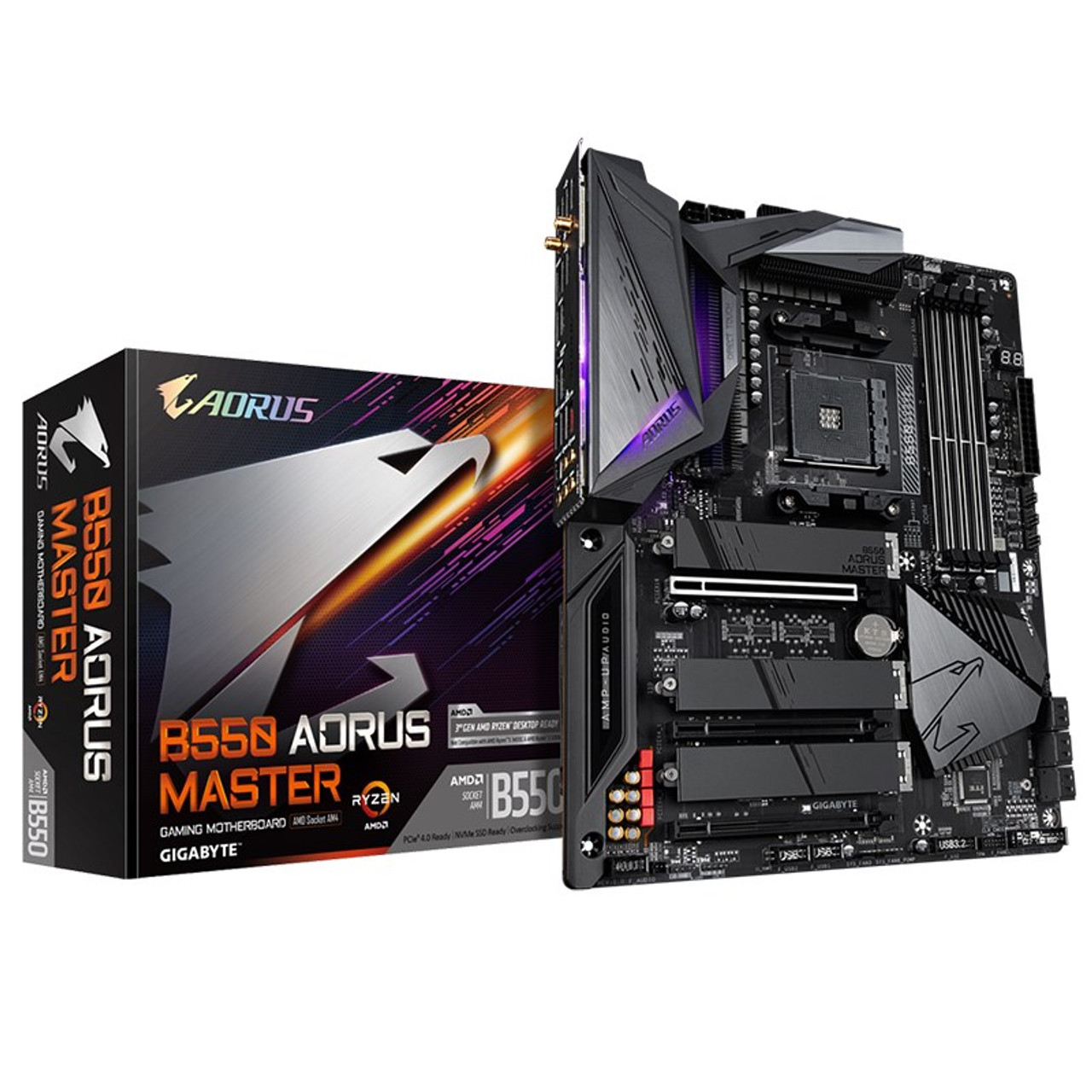 Image for Gigabyte B550 AORUS MASTER AM4 ATX Motherboard CX Computer Superstore