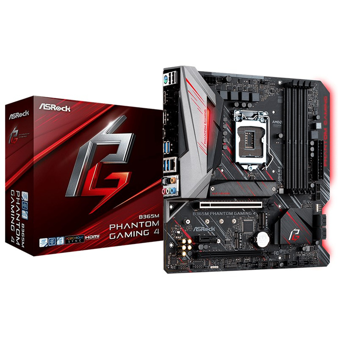 Image for ASRock B365M Phantom Gaming 4 LGA 1151 M-ATX Motherboard CX Computer Superstore