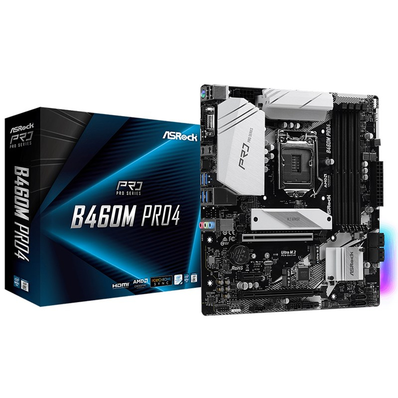 Image for ASRock B460M Pro4 LGA 1200 Micro-ATX Motherboard CX Computer Superstore