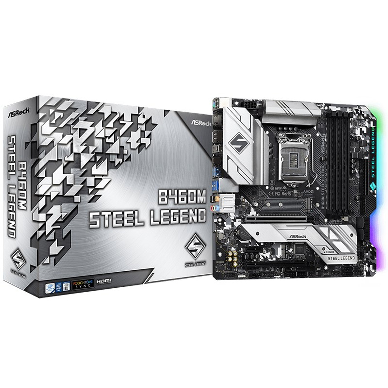 Image for ASRock B460M Steel Legend LGA 1200 Micro-ATX Motherboard CX Computer Superstore