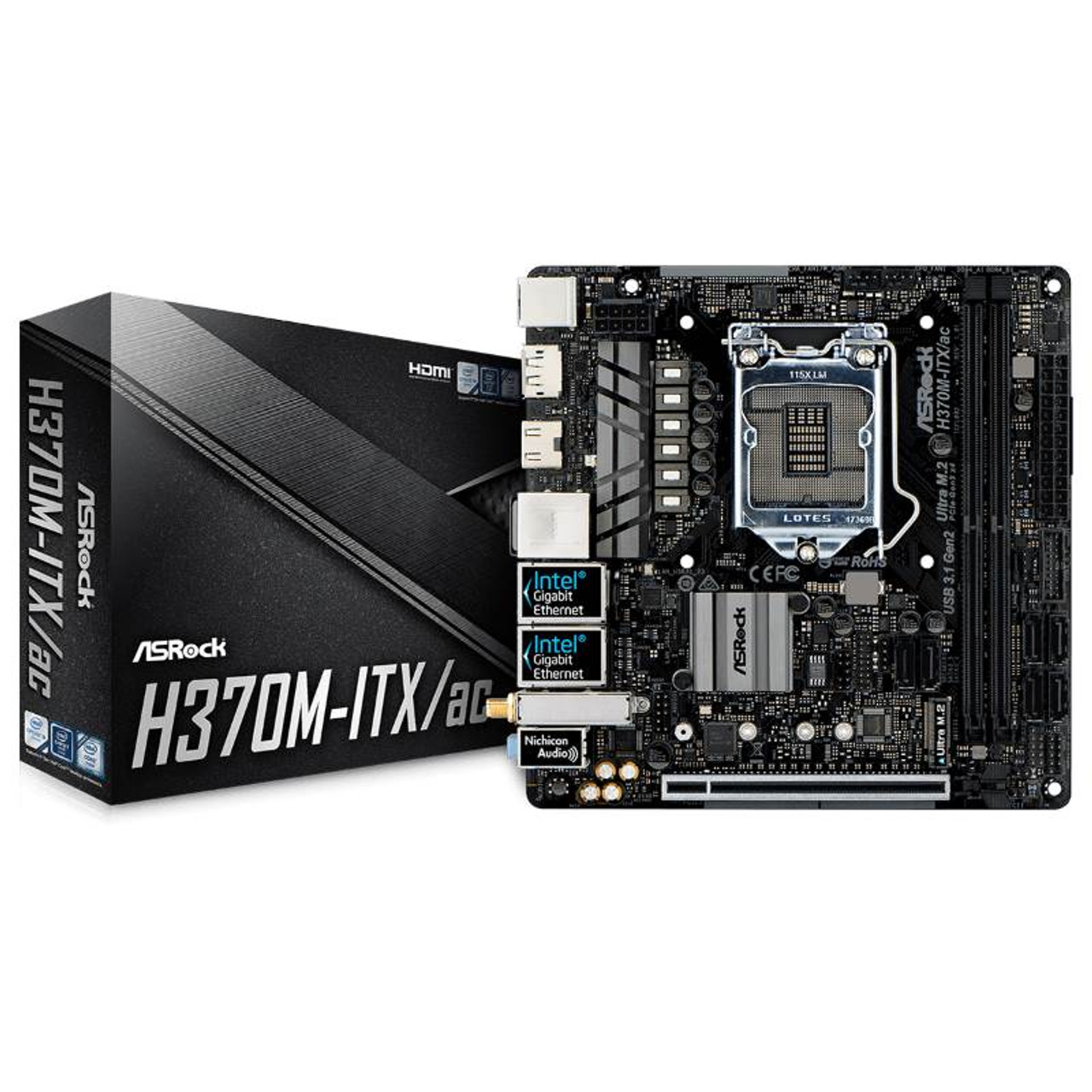 Image for ASRock H370M-ITX/ac 1151 Mini-ITX Motherboard CX Computer Superstore