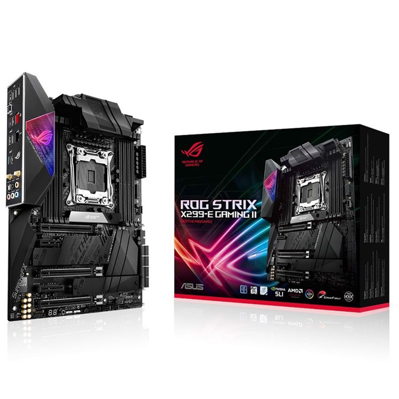 Image for Asus ROG Strix X299-E Gaming II LGA 2066 ATX Motherboard CX Computer Superstore