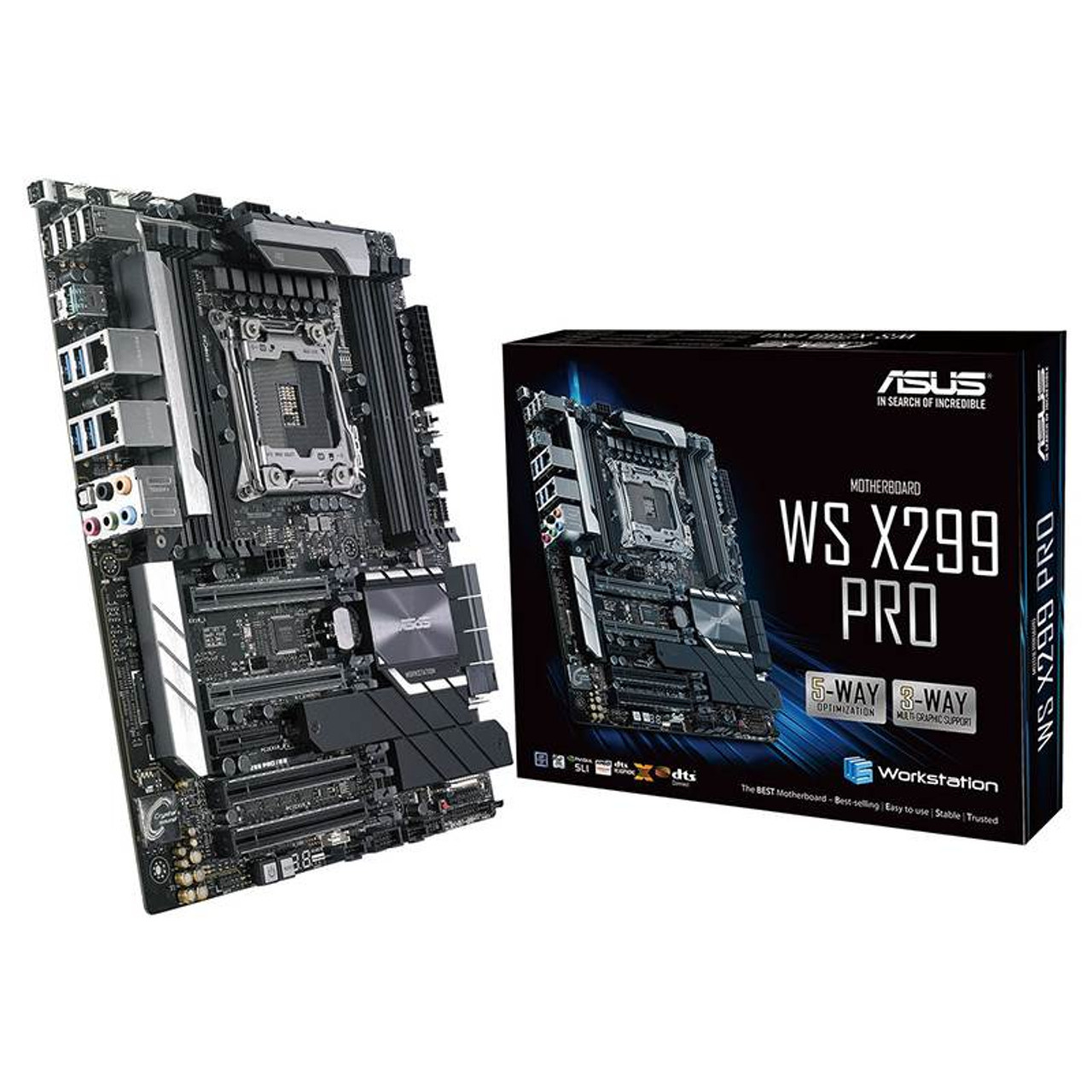 Image for Asus WS X299 PRO X-SERIES LGA-2066 ATX Motherboard CX Computer Superstore