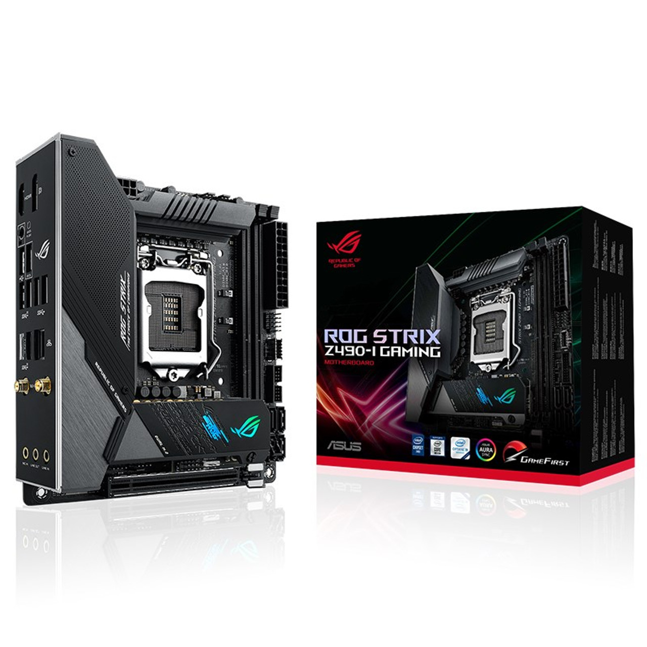 Image for Asus ROG STRIX Z490-I GAMING LGA 1200 Mini-ITX Motherboard CX Computer Superstore