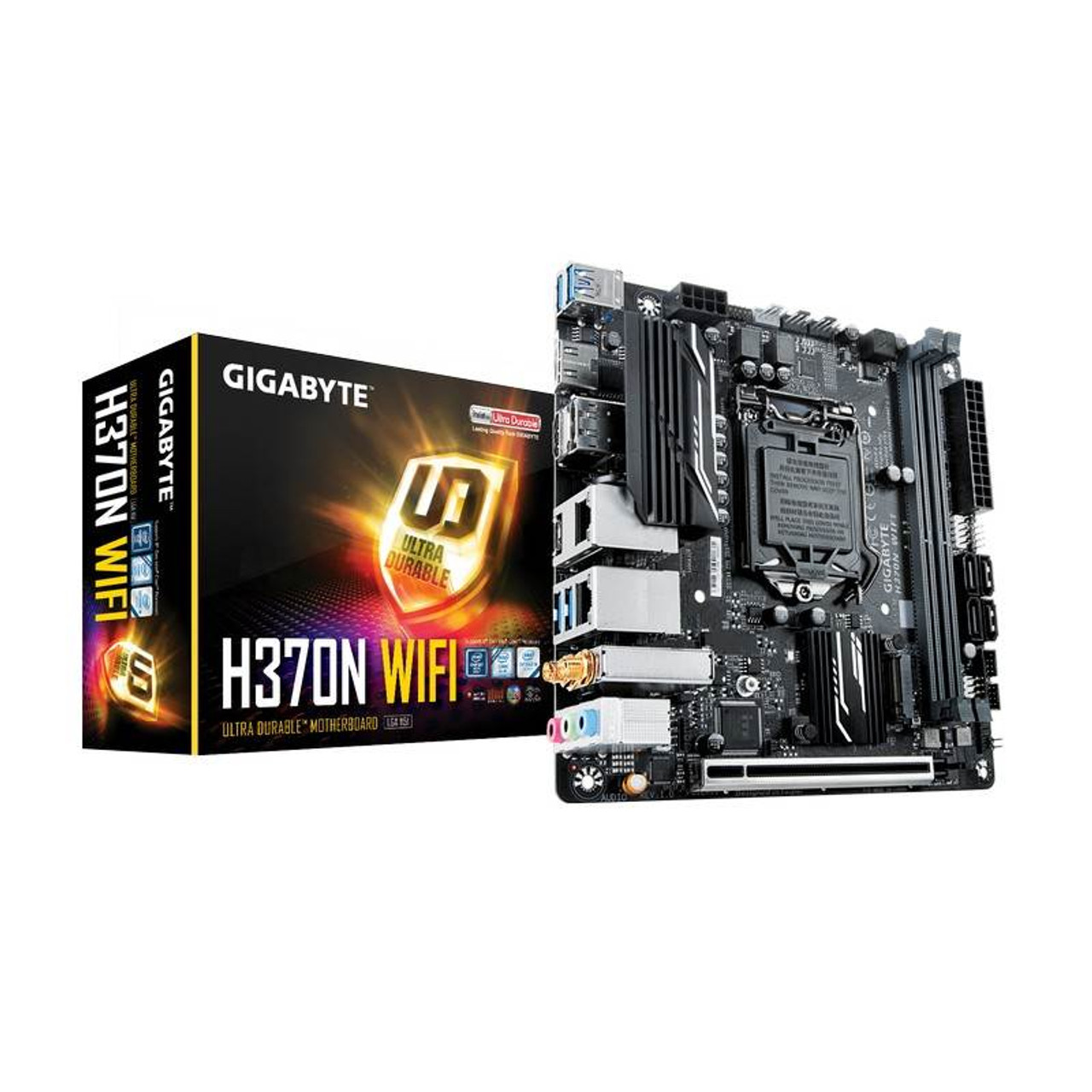 Image for Gigabyte H370N WIFI LGA 1151-2 Mini ITX Motherboard CX Computer Superstore