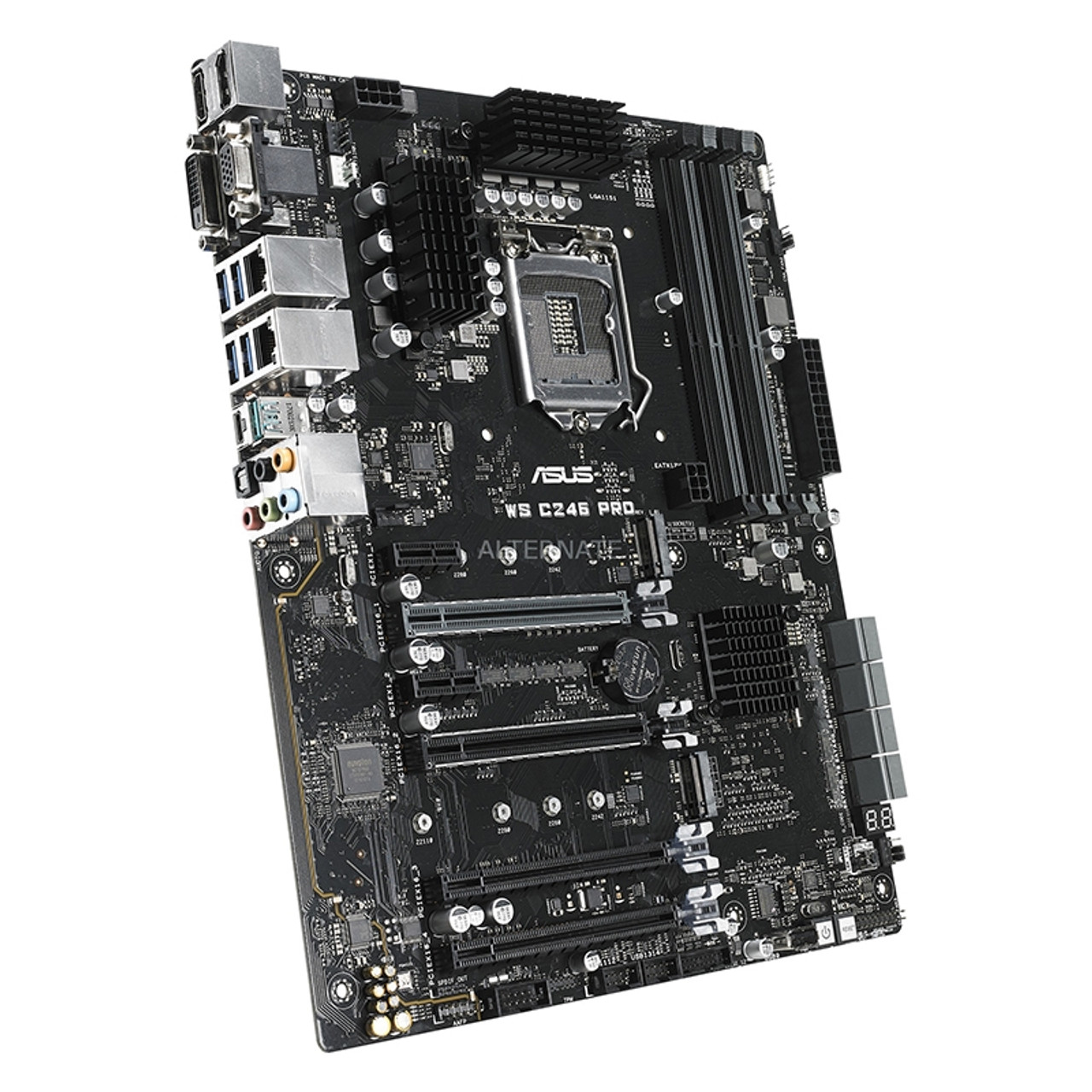 Image for Asus WS C246 PRO LGA1151 ATX Workstation Motherboard CX Computer Superstore