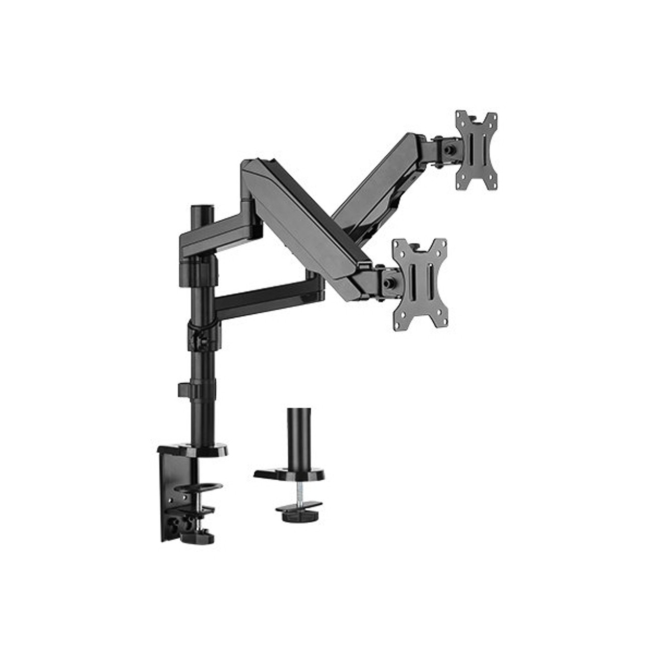 Image for 4Cabling Dual Monitor Arm Gas Spring Monitor Bracket CX Computer Superstore