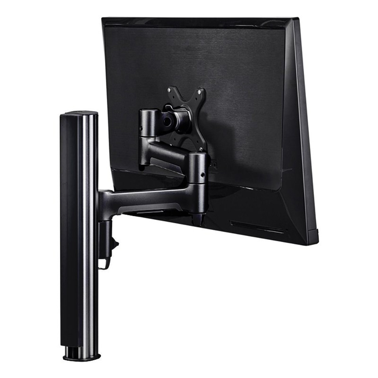Image for Atdec AWMS-4640 400mm Post Single Monitor Mount w/ Grommet - Matte Black CX Computer Superstore