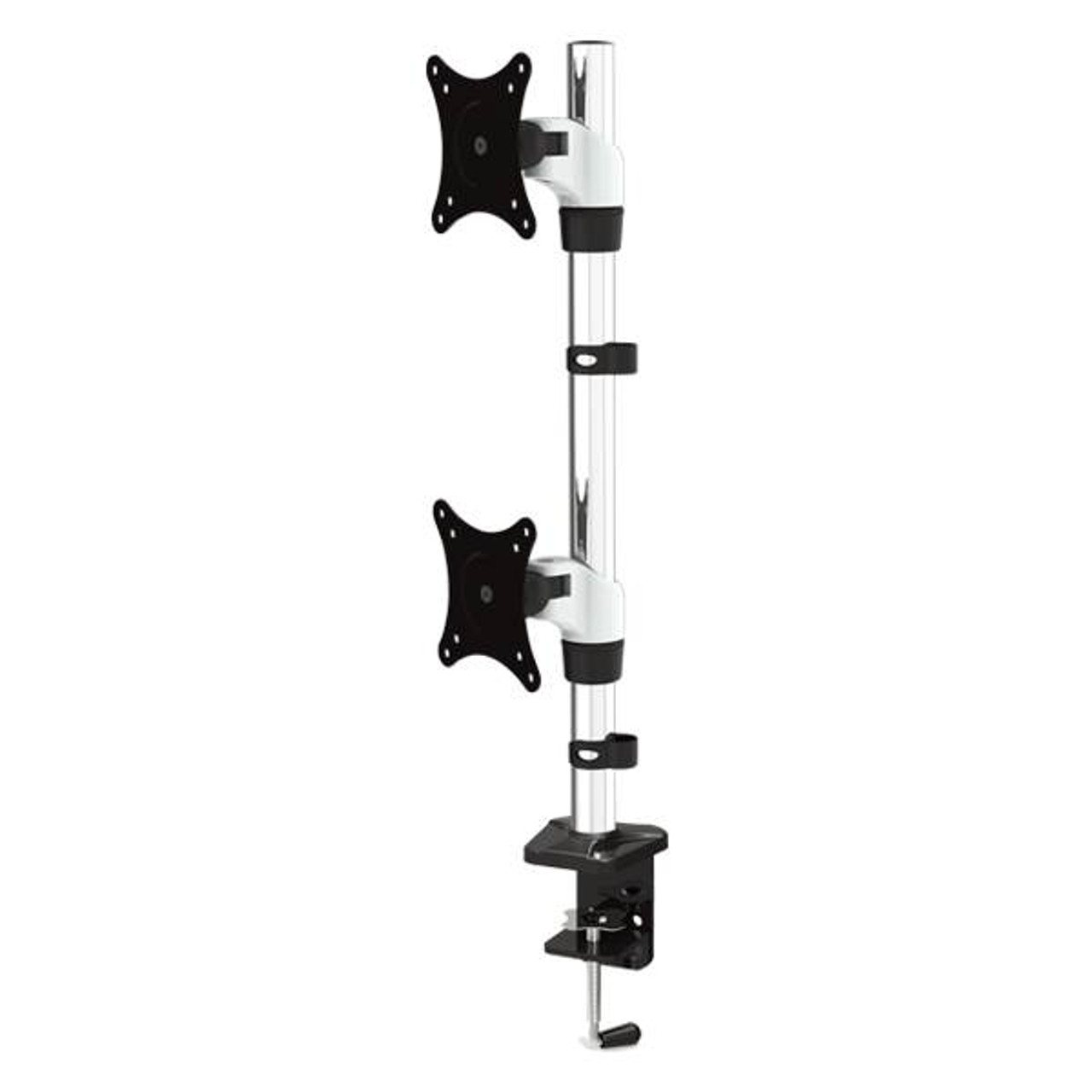 Image for Vision Mounts Adjustable Dual Monitor Vertical Desk Mount 15in-27in CX Computer Superstore