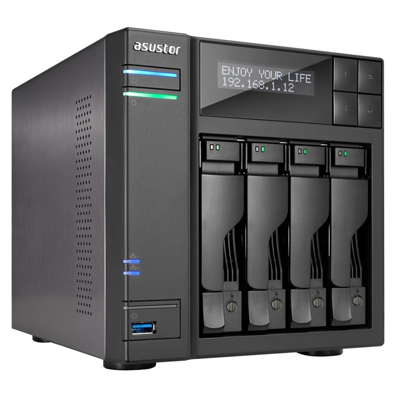 Image for Asustor AS7004T-i5 4-Bay Diskless NAS Intel Core i5 3.0GHz CPU 8GB RAM CX Computer Superstore
