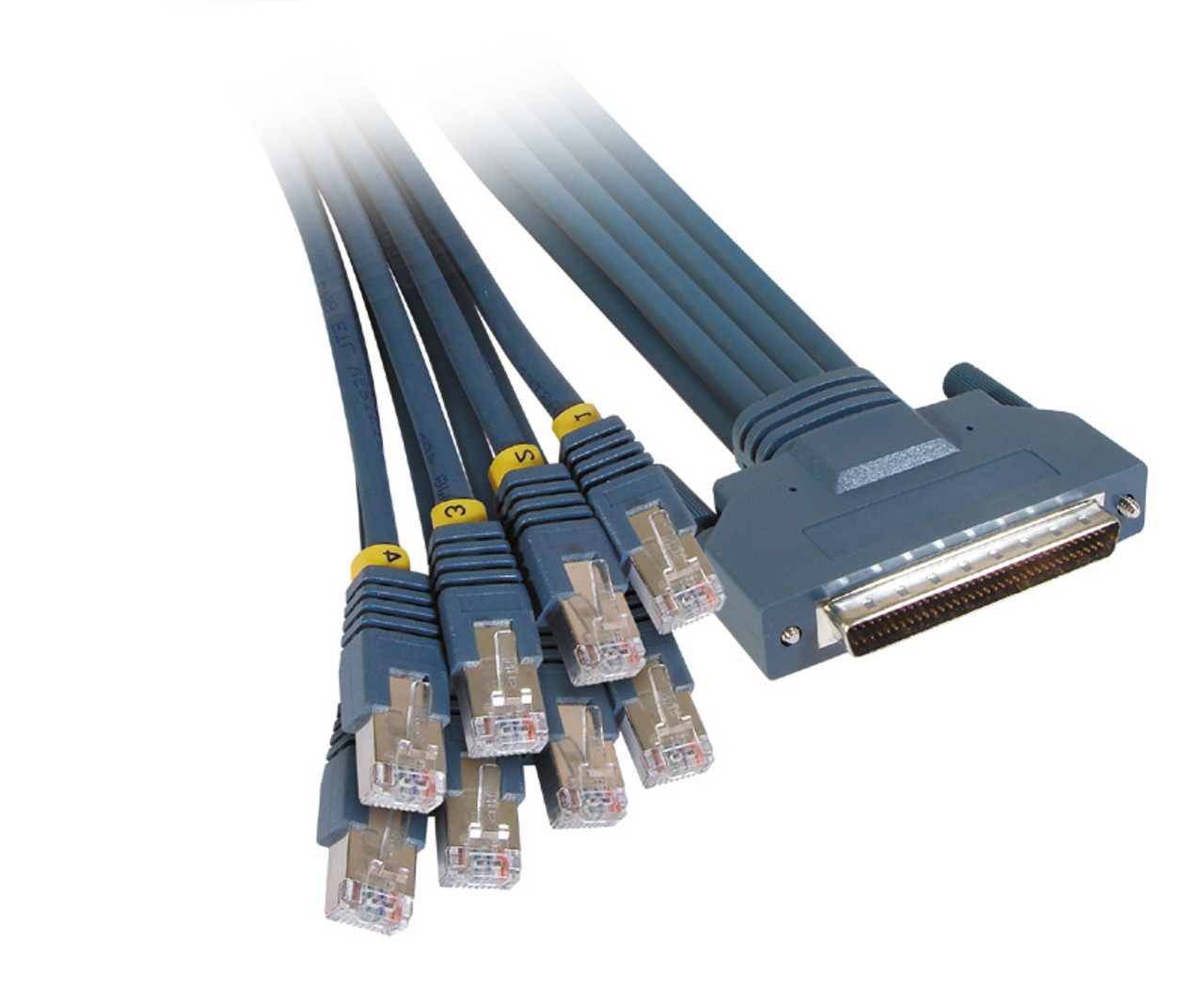 Product image for 3M HD68M To 8 X RJ45 Plug Cable   CX Computer Superstore