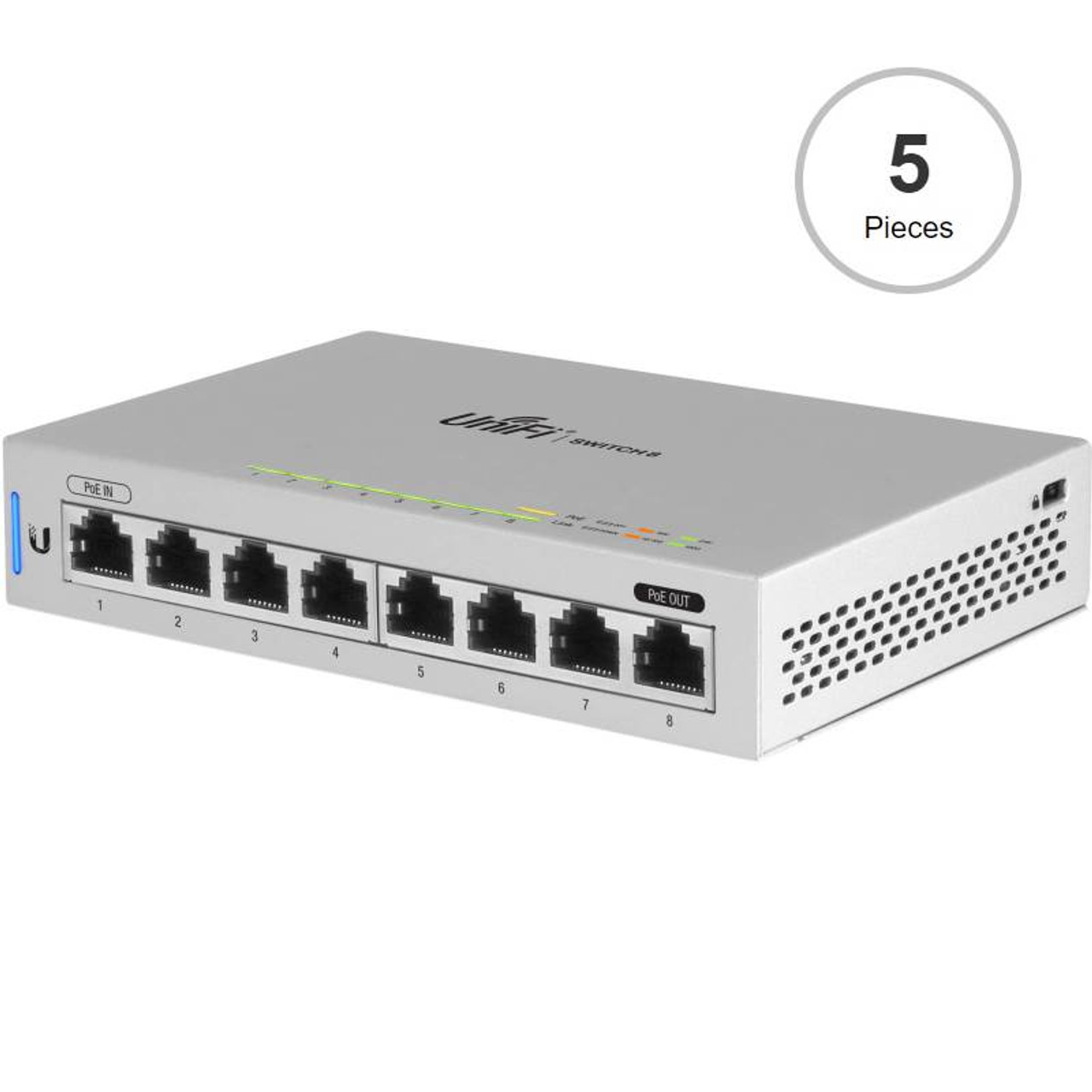 Image for Ubiquiti Networks US-8-5 UniFi Switch 8 Managed 8-Port Gigabit Switch - 5 Pack CX Computer Superstore