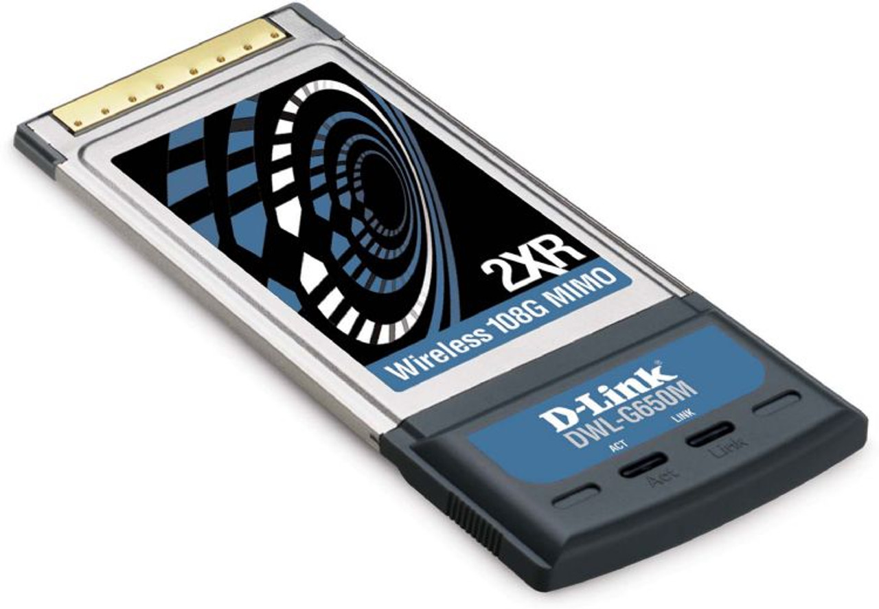 Image for D-Link 11/54/108 Mbps 802.11b/g Wireless LAN PCMCIA Card with MIMO (DWL-G650M) CX Computer Superstore