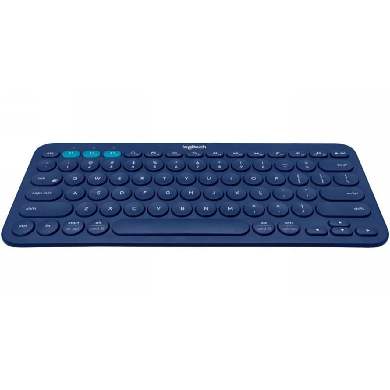 Image for Logitech K380 Multi-Device Wireless Bluetooth Keyboard - Blue CX Computer Superstore