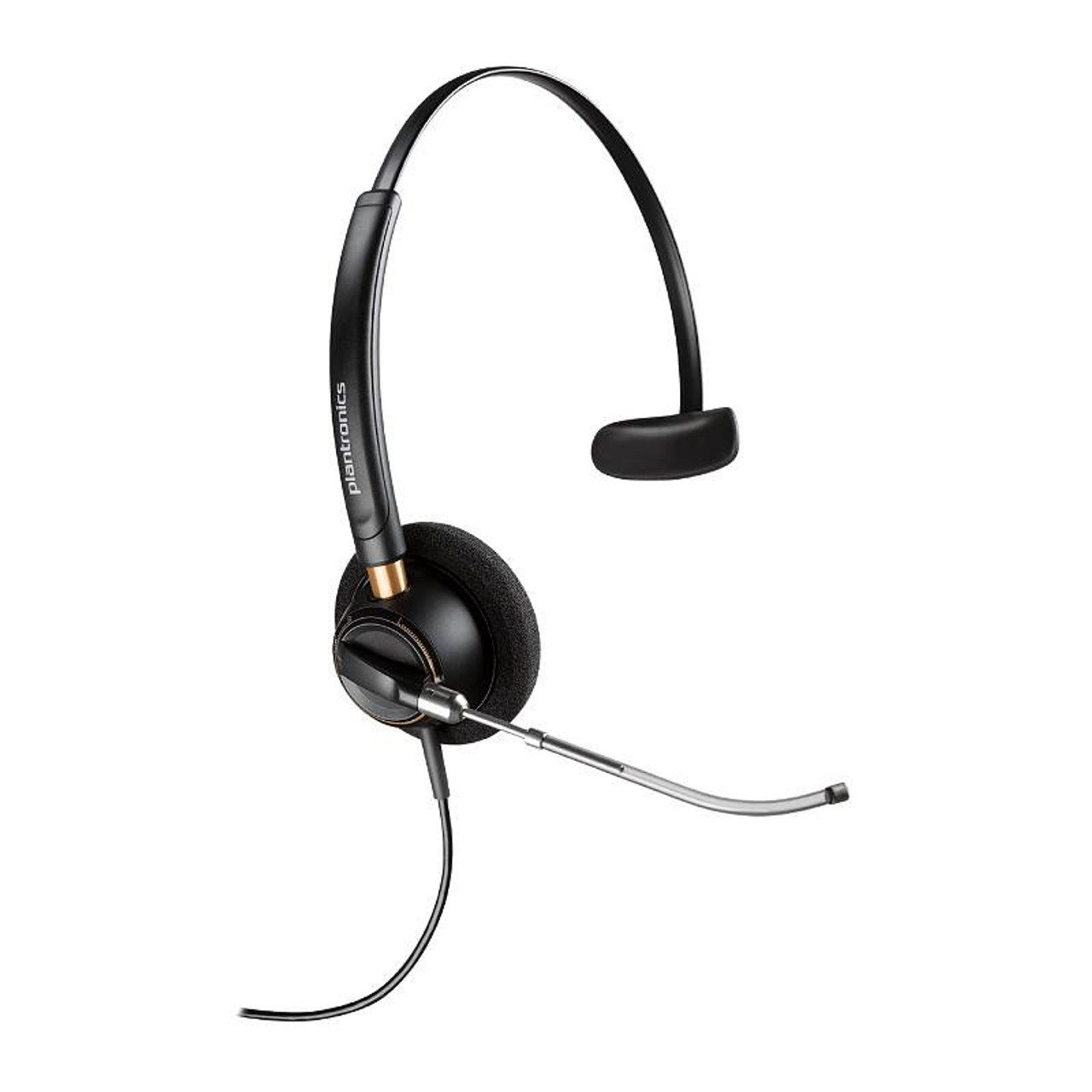 Image for Plantronics EncorePro HW510V Over-the-Head Monaural Voice Tube Corded Headset CX Computer Superstore