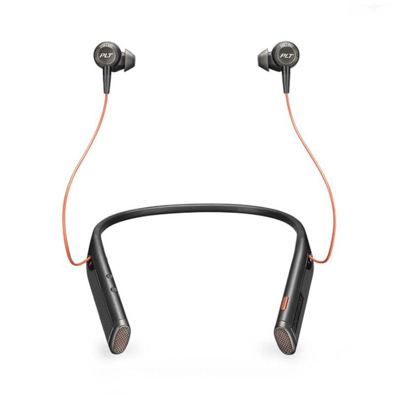 Image for Plantronic Voyager 6200 UC Bluetooth Neckband Headset with Earbuds - Black CX Computer Superstore
