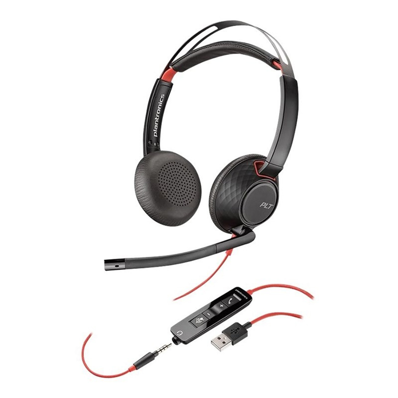 Image for Plantronics Blackwire C5220 Stereo UC USB-A Headset w/ 3.5mm (OEM Pack) CX Computer Superstore