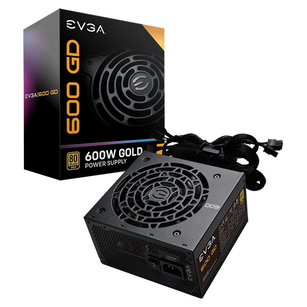 Image for EVGA 600 GD 600W 80+ Gold Non-Modular Power Supply CX Computer Superstore
