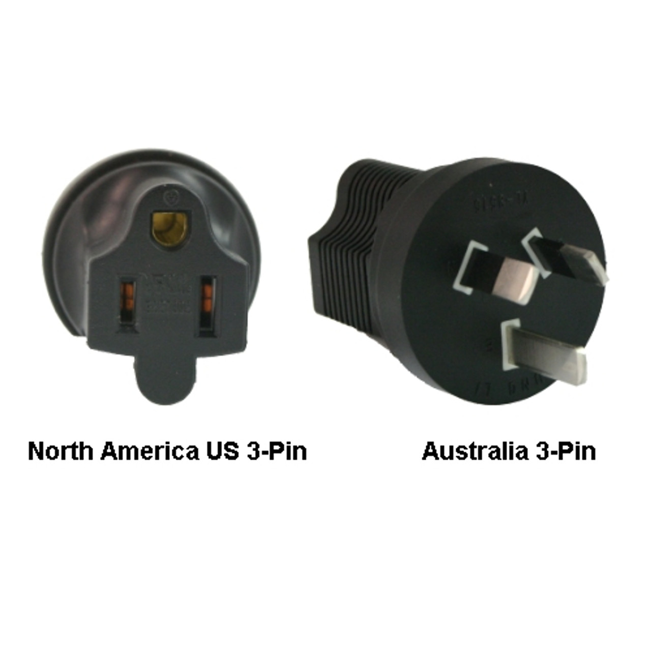 Product image for North America US 3-pin to Australia Power Adapter Plug | CX Computer Superstore