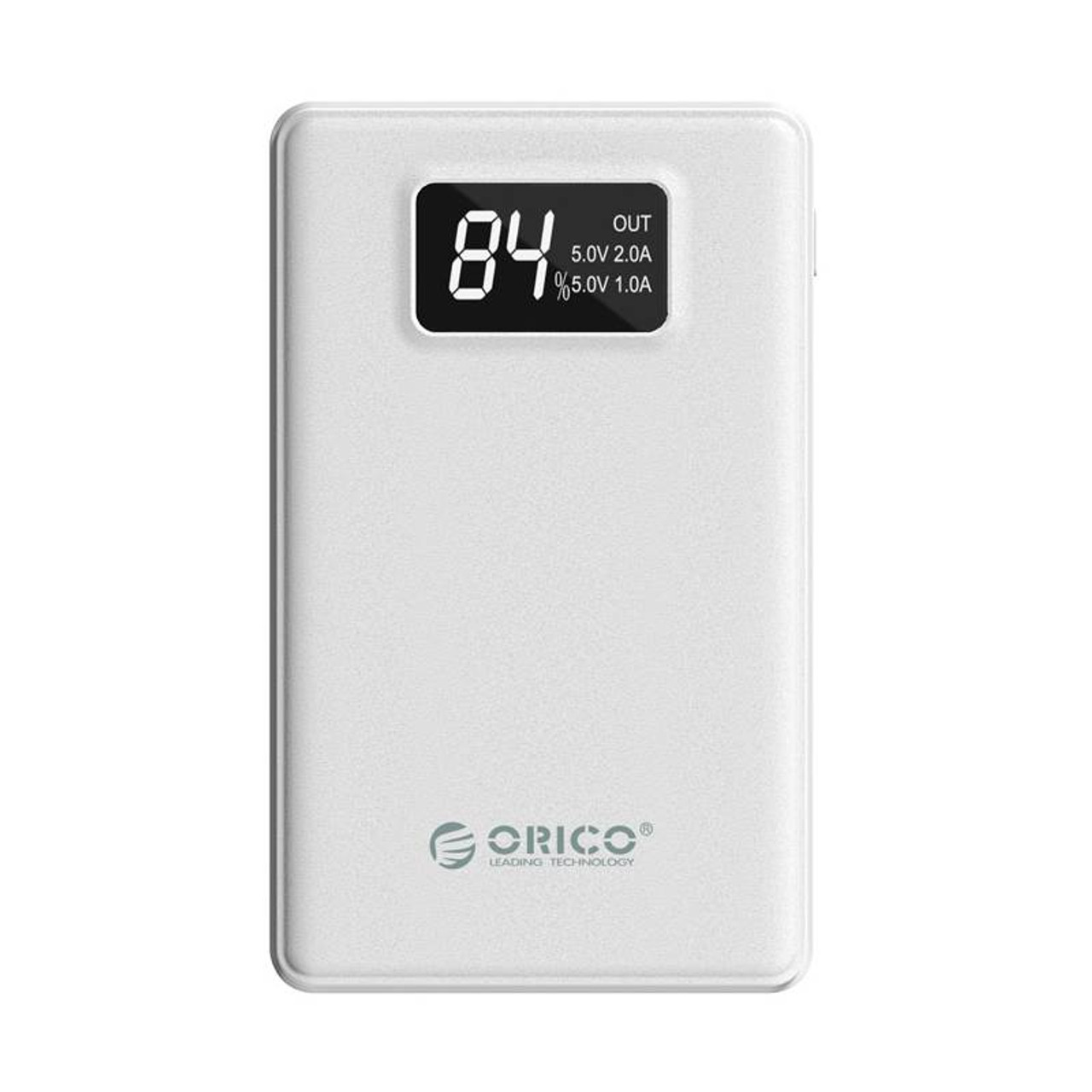 Image for Orico 8000mAh Smart Power Bank with Display Screen - White CX Computer Superstore