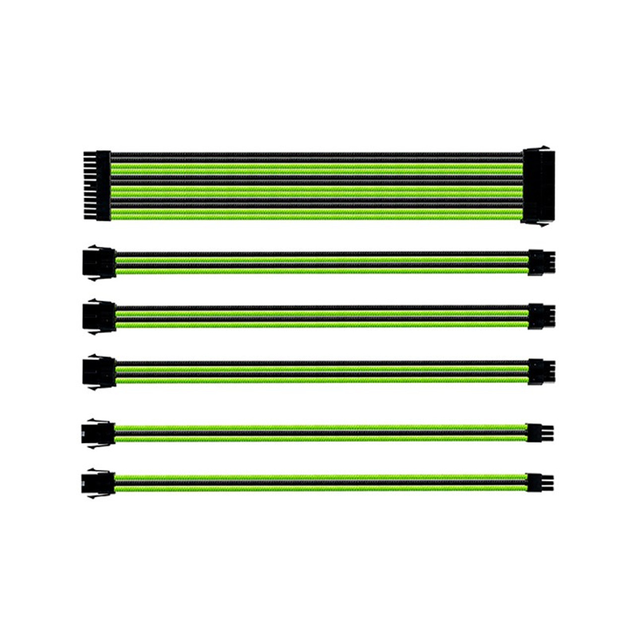 Image for Cooler Master Universal PSU Sleeved Extension Cable Kit - Green/Black CX Computer Superstore