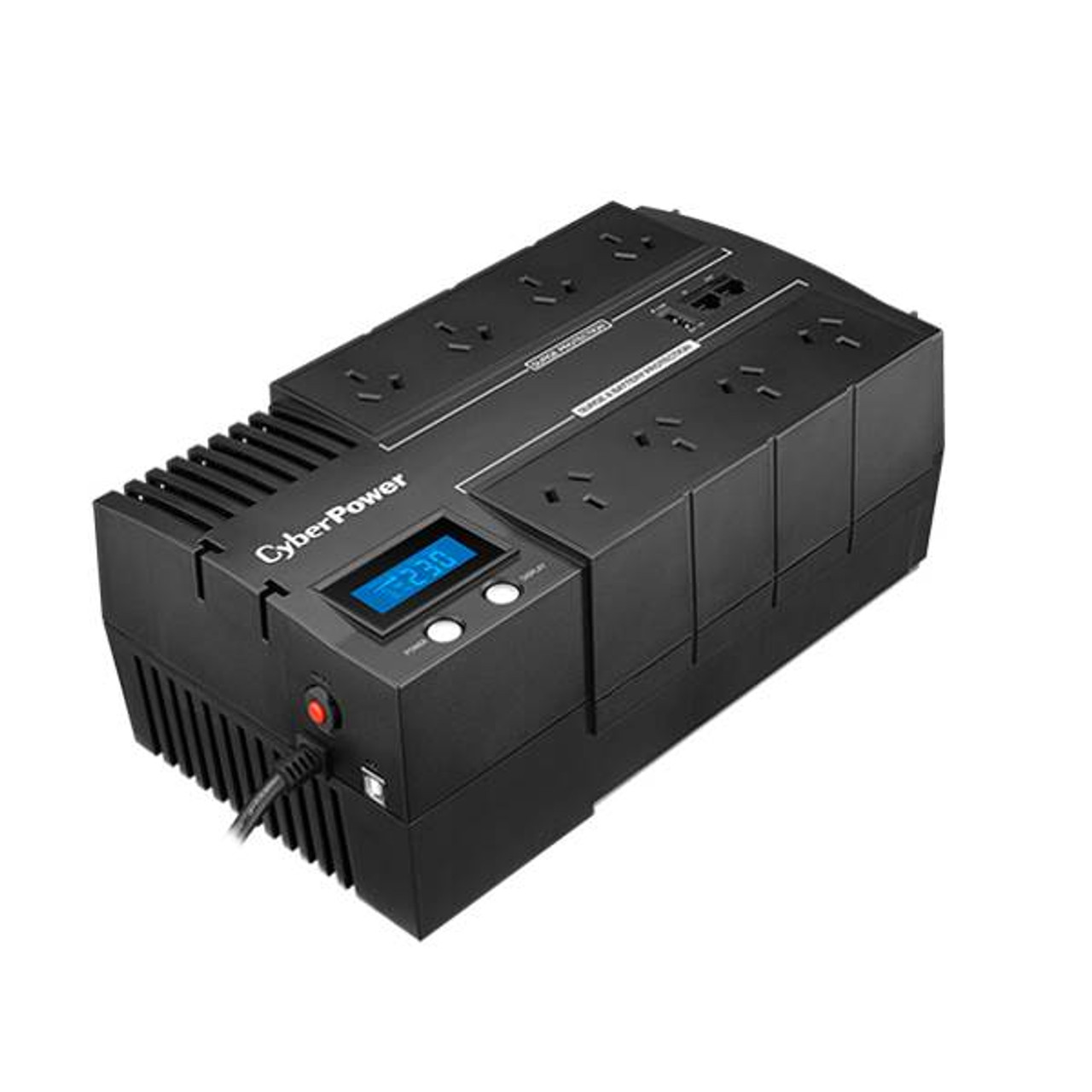 Product image for CyberPower BR850ELCD BRIC LCD 850VA / 510W Simulated Sine Wave UPS   CX Computer Superstore