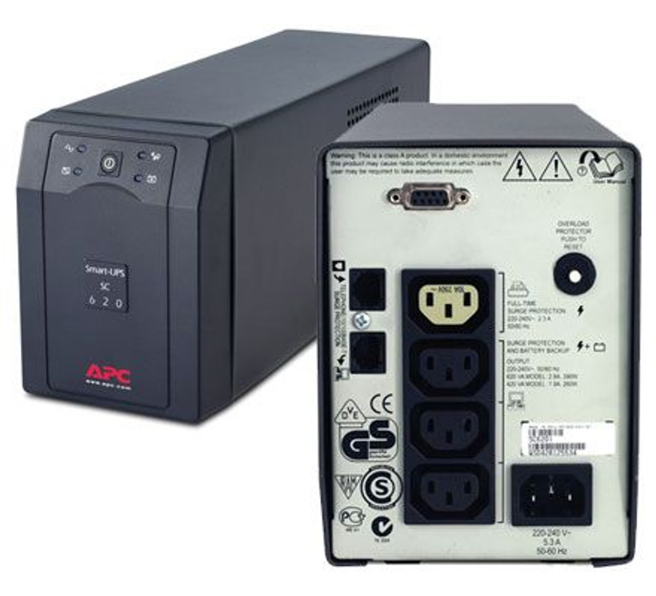 Image for APC SC620I Smart-UPS SC 620VA 390W 230V RS232 CX Computer Superstore