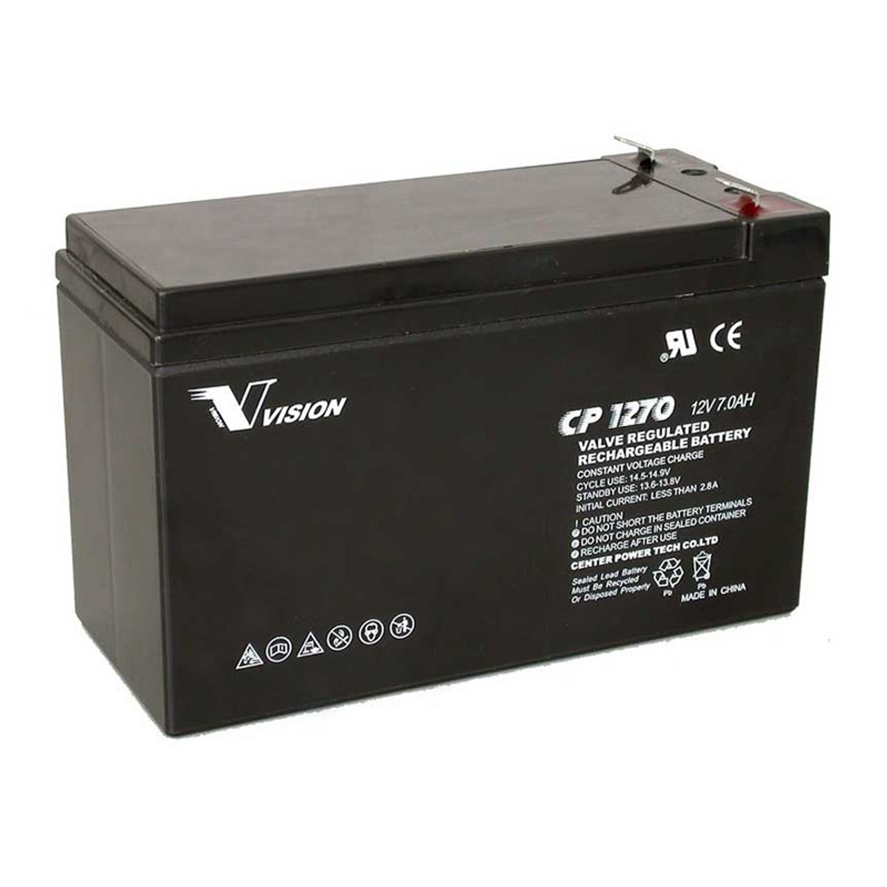 Image for Vision VRLA CP1270EB 12V 7Ah UPS Replacement Battery CX Computer Superstore