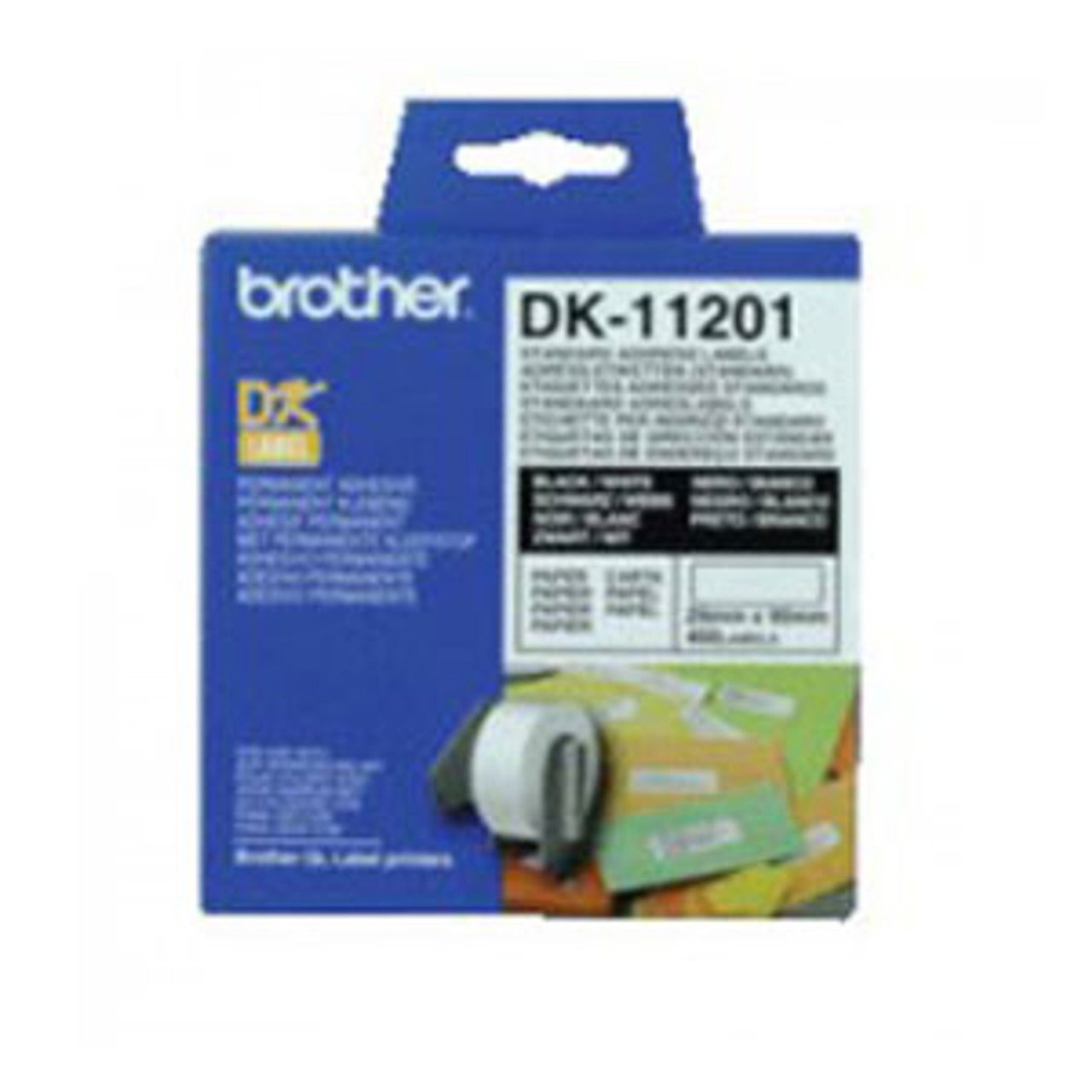 Image for Brother DK11201 White Label 400 per roll CX Computer Superstore