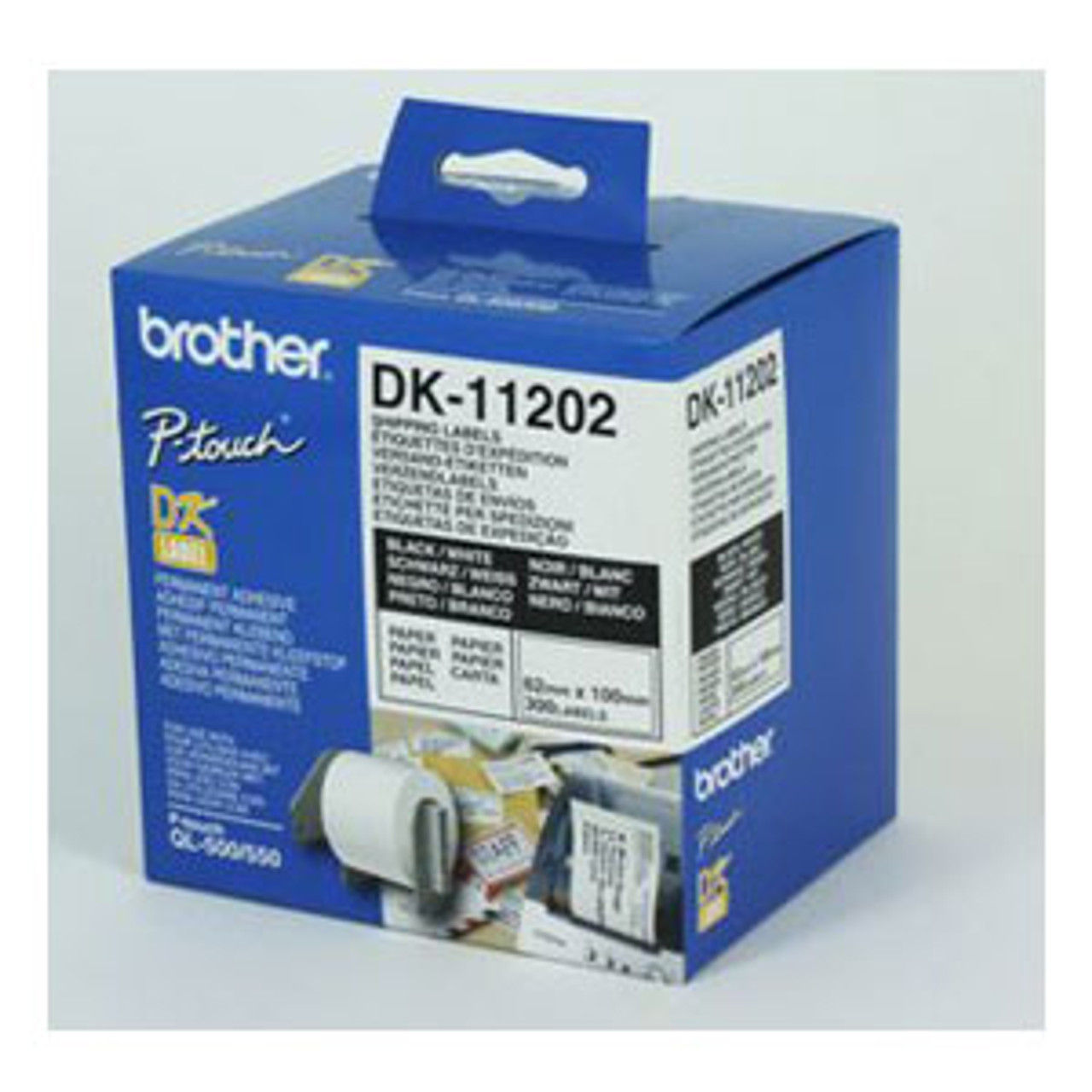 Image for Brother DK11202 White Label 300 per roll CX Computer Superstore