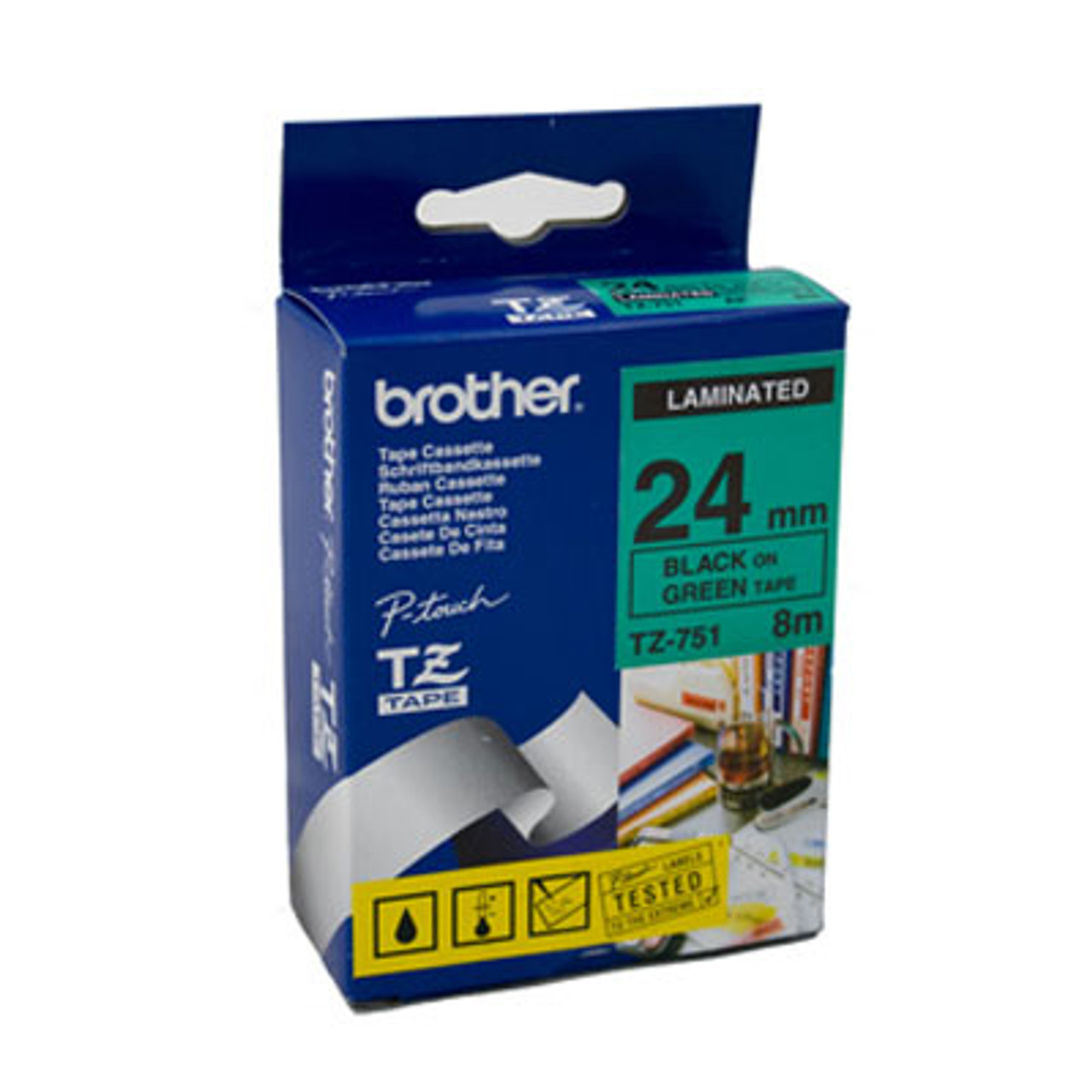 Image for Brother TZe751 Labelling Tape 8 metres Labelling Tape CX Computer Superstore