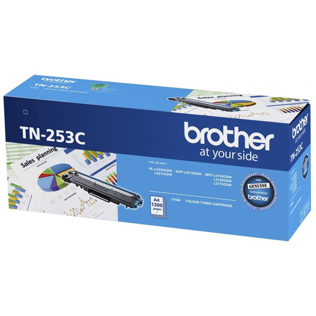 Image for Brother TN-253C Cyan Toner Cartridge CX Computer Superstore