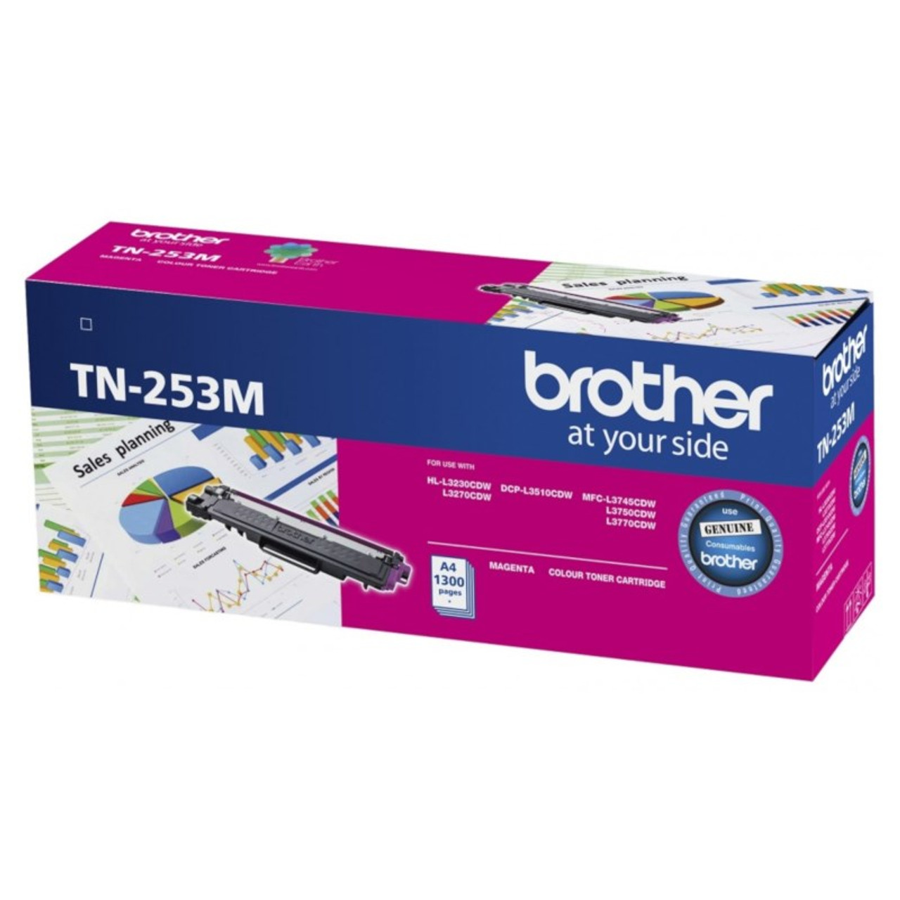 Image for Brother TN-253M Magenta Toner Cartridge CX Computer Superstore