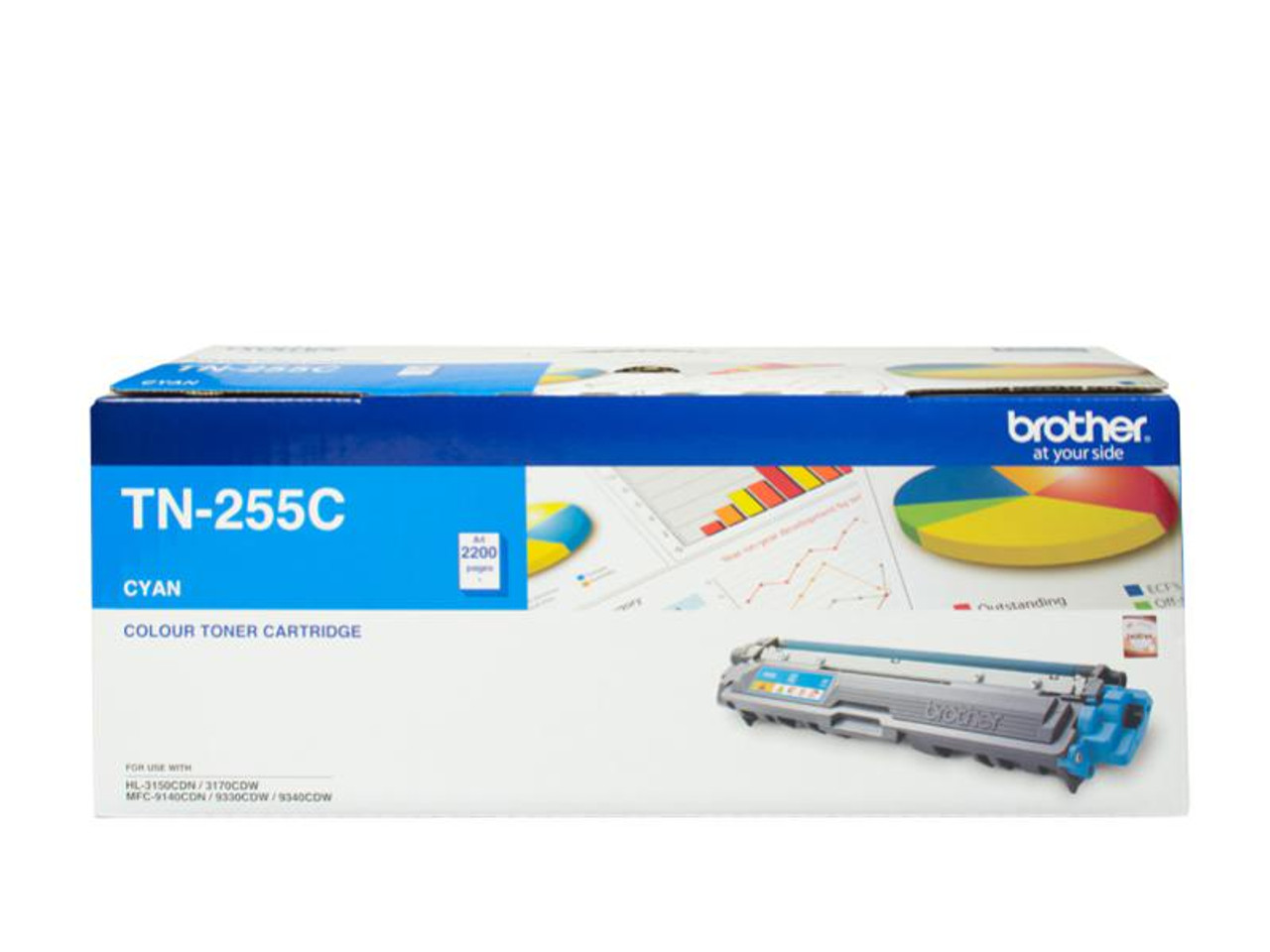 Image for Brother TN-255C High Yield Cyan Toner - Up to 2,200 Pages CX Computer Superstore