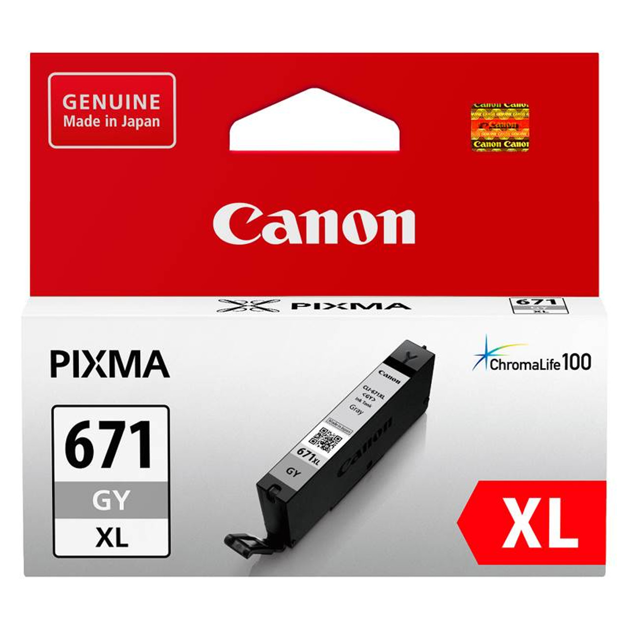 Image for Canon CLI-671XLGY High Capacity Grey Ink Cartridge CX Computer Superstore