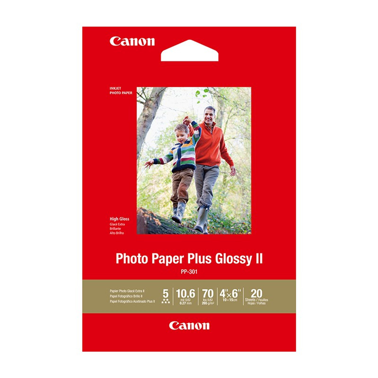 Image for Canon Photo Paper Plus Glossy II 4inx6in - 20 Sheets CX Computer Superstore