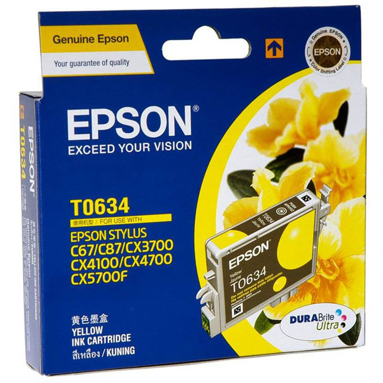 Image for Epson T0634 Stylus Yellow Ink 380 pages (T063490) CX Computer Superstore