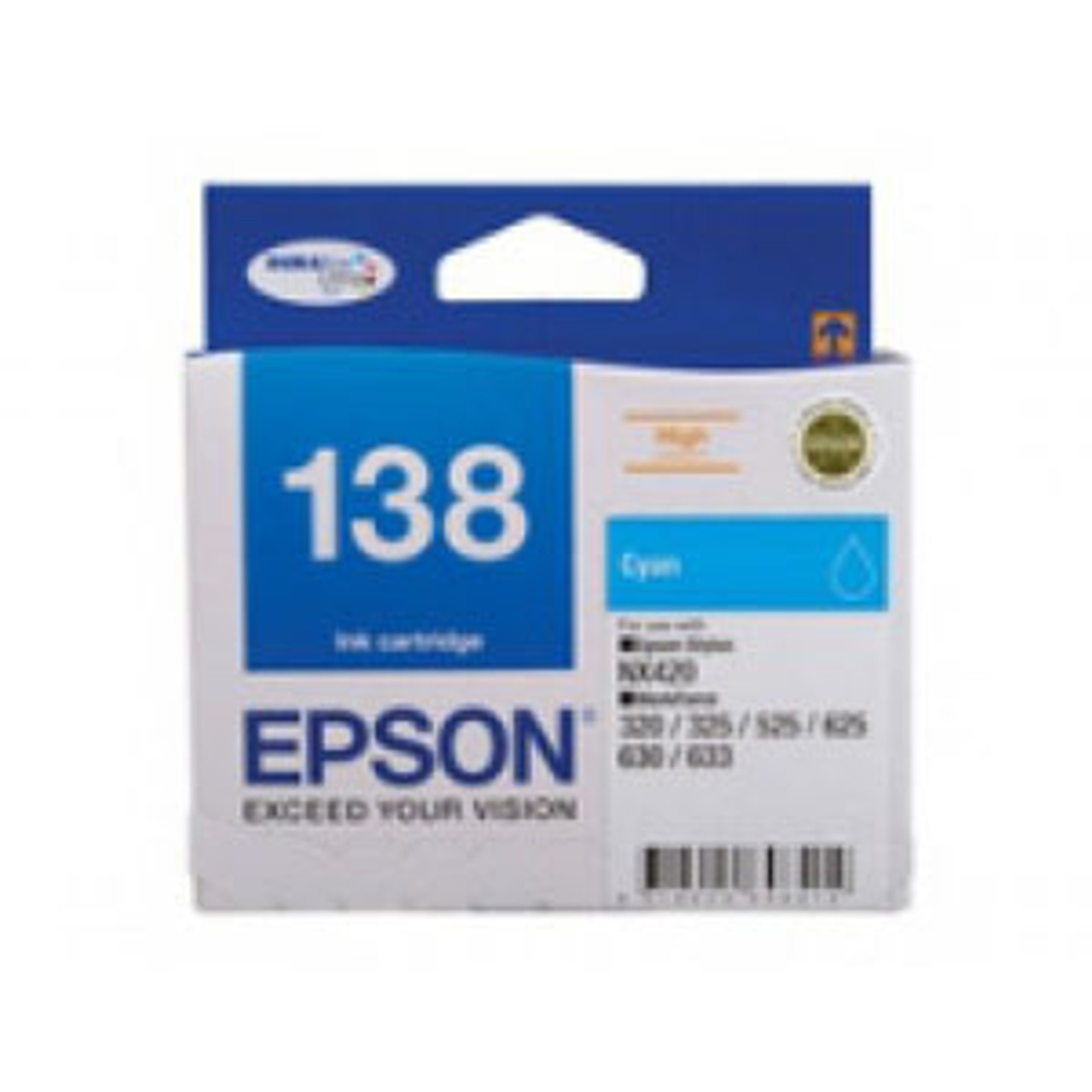 Image for Epson 138 Cyan Ink Cart 420 pages Cyan CX Computer Superstore