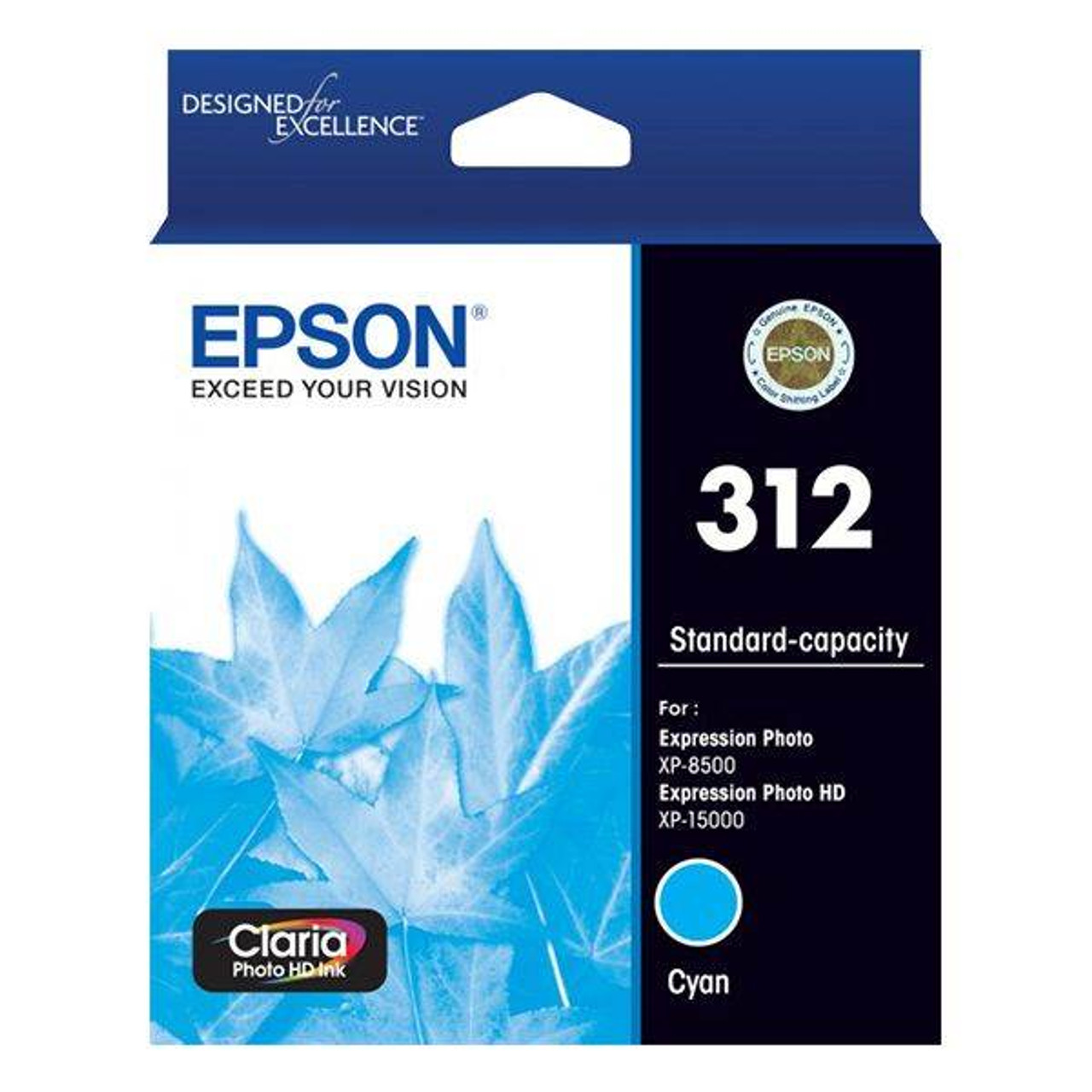 Image for Epson 312 Standard Capacity Claria Photo HD Cyan Ink Cartridge CX Computer Superstore