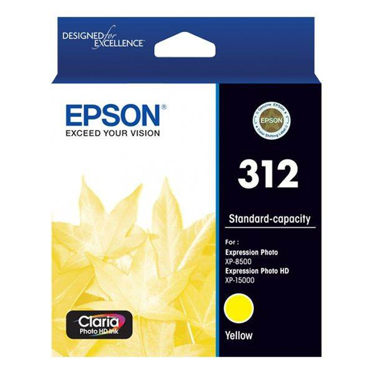 Image for Epson 312 Standard Capacity Claria Photo HD Yellow Ink Cartridge CX Computer Superstore